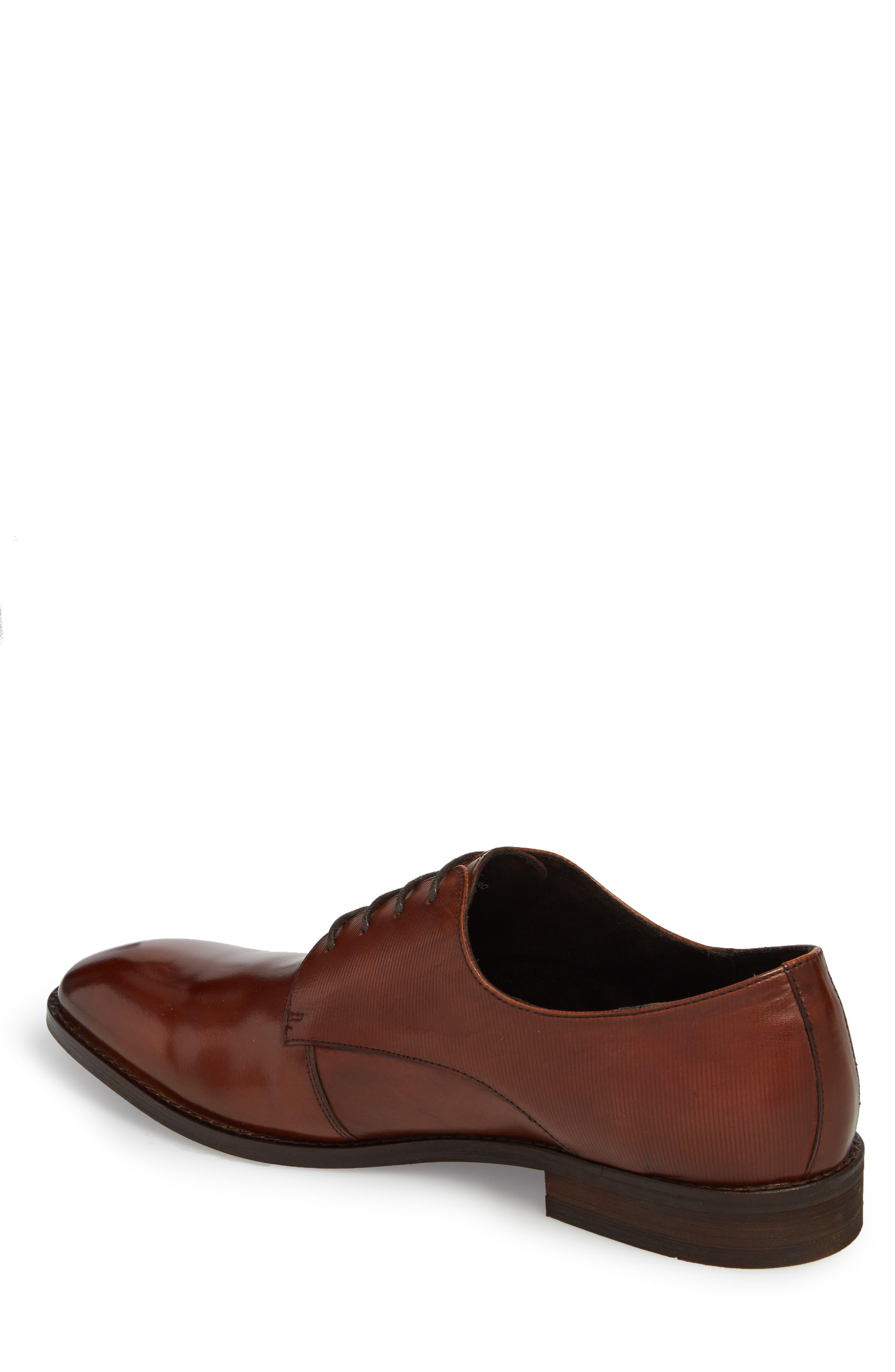 Courage Plain Toe Derby,                             Alternate thumbnail 2, color,                             Cognac Leather