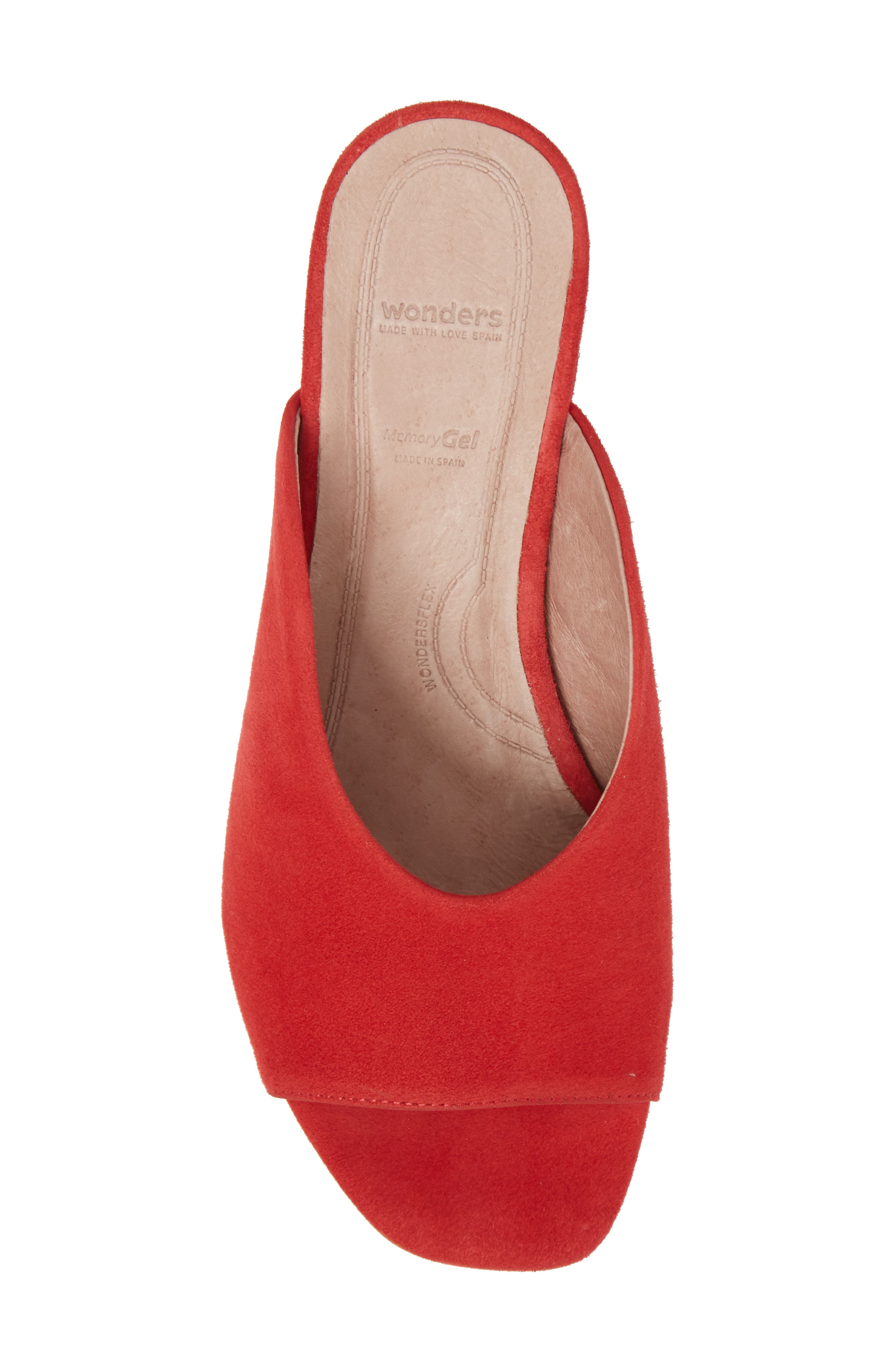 F-6127 Mule,                             Alternate thumbnail 5, color,                             Red Suede