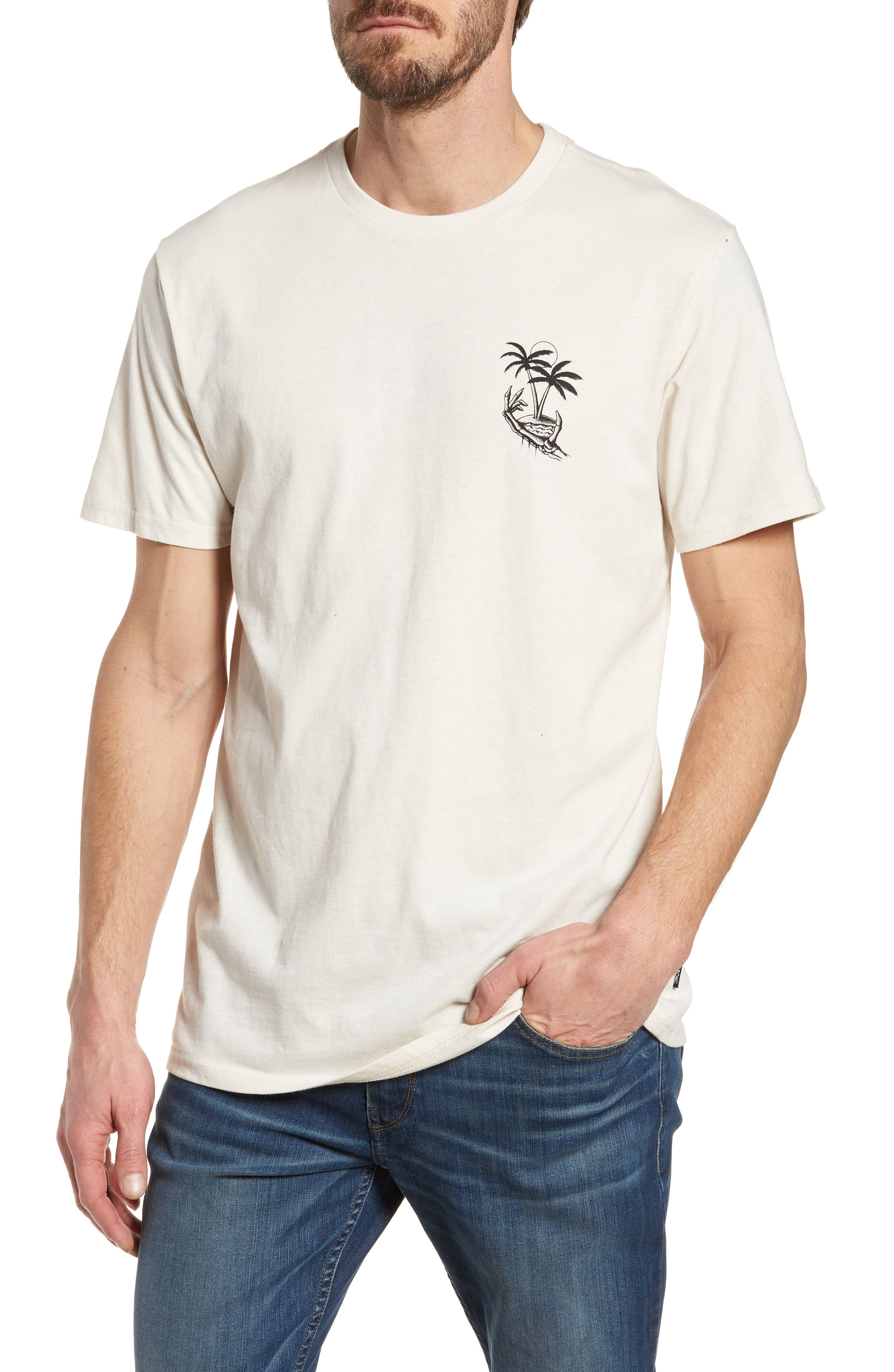 Permanent Vacation Graphic T-Shirt,                             Main thumbnail 1, color,                             Rock