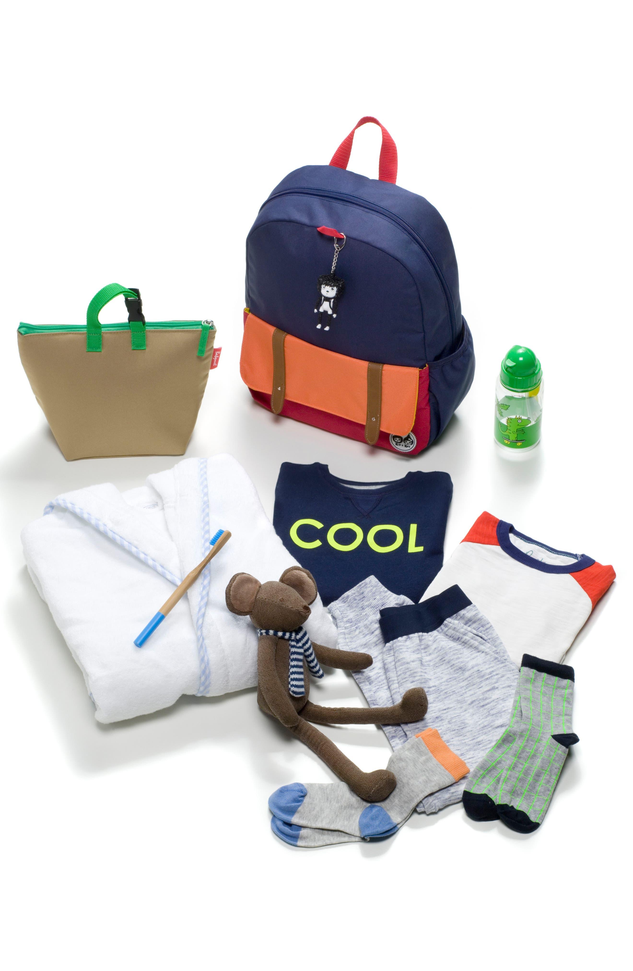 Zip & Zoe Colorblock Junior Backpack,                             Alternate thumbnail 7, color,                             Blue
