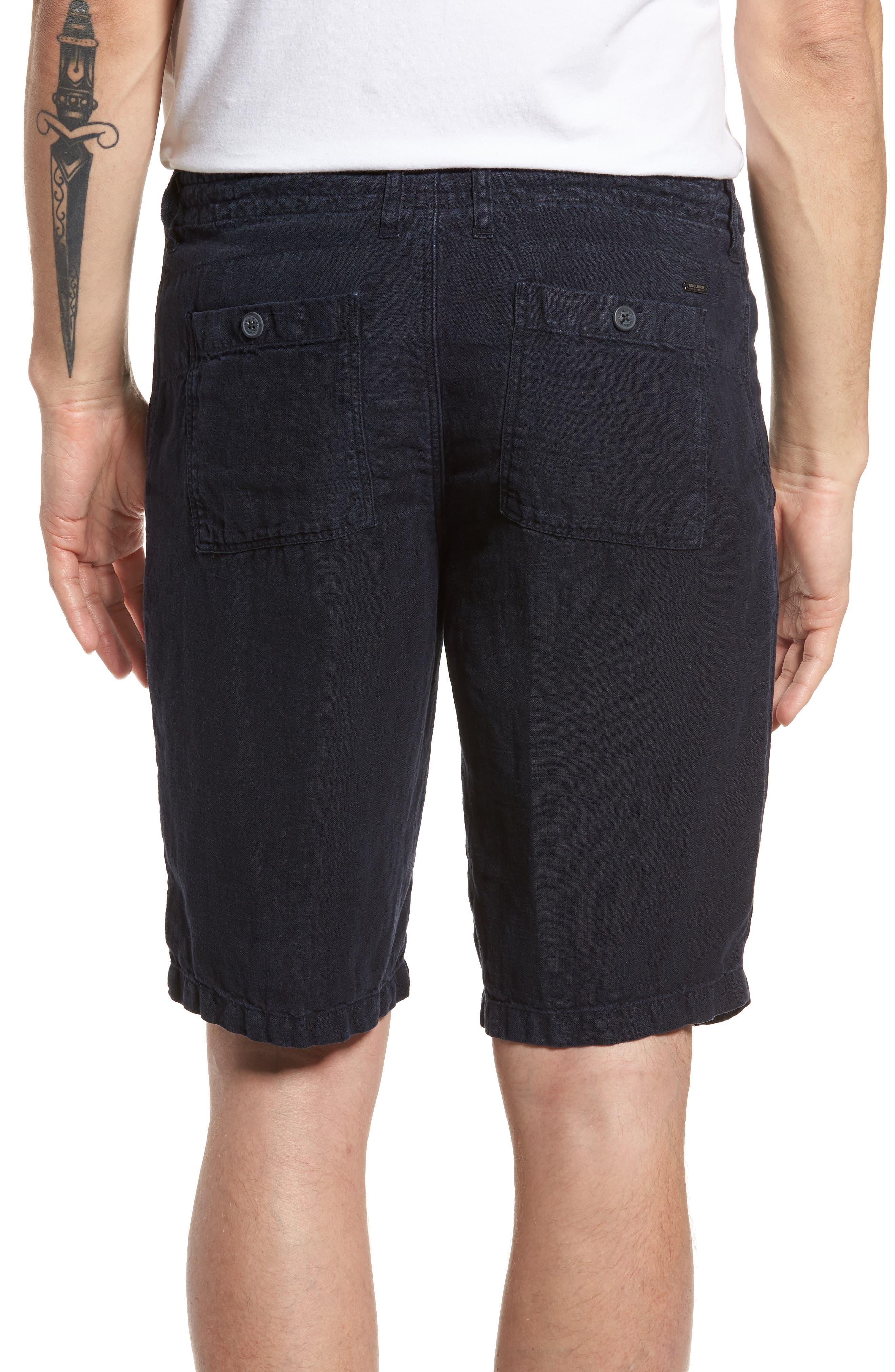 & Bros. Linen Shorts,                             Alternate thumbnail 2, color,                             Alpine Navy