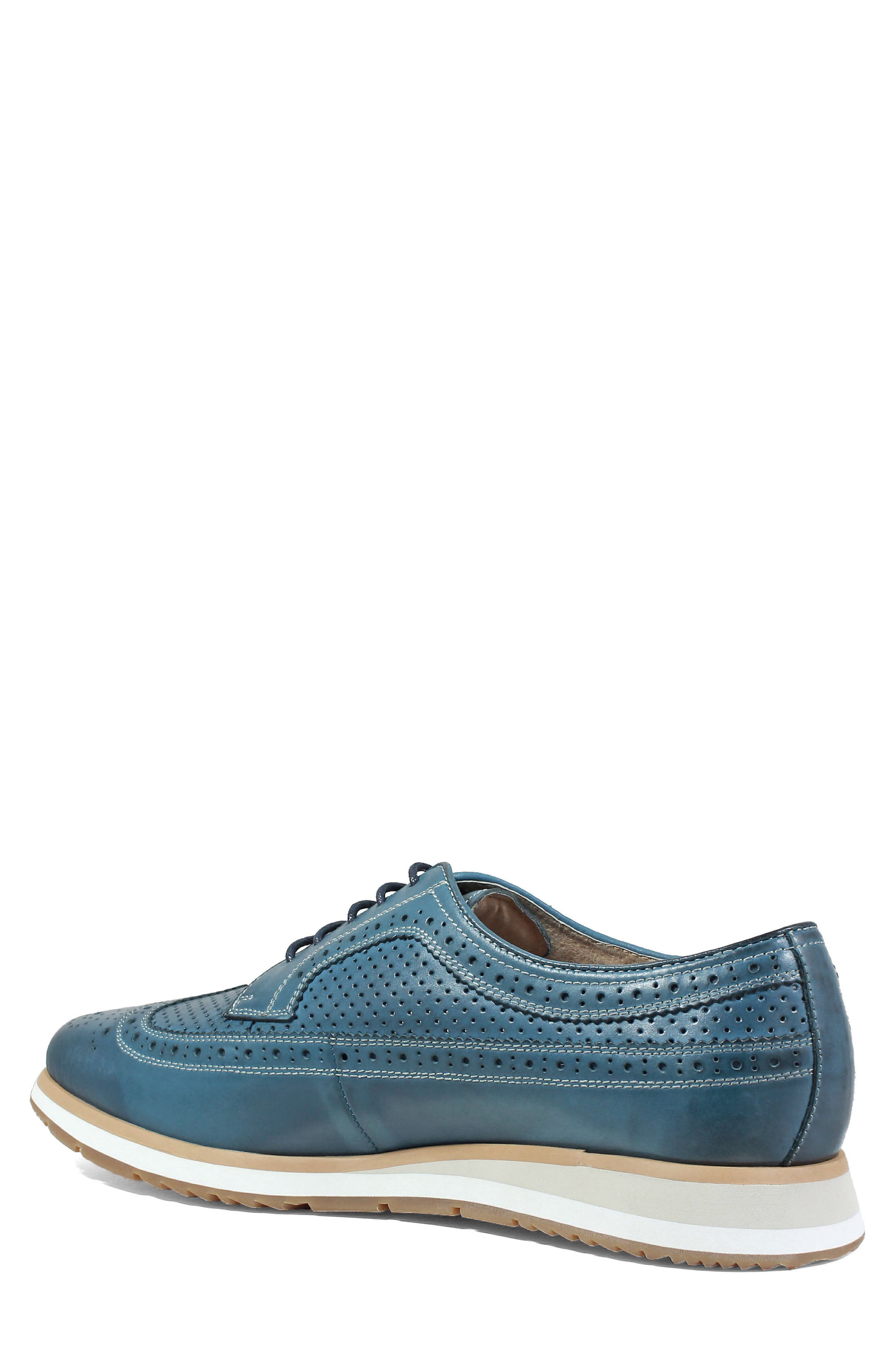 Limited Flux Perforated Wingtip Derby,                             Alternate thumbnail 2, color,                             Indigo Leather