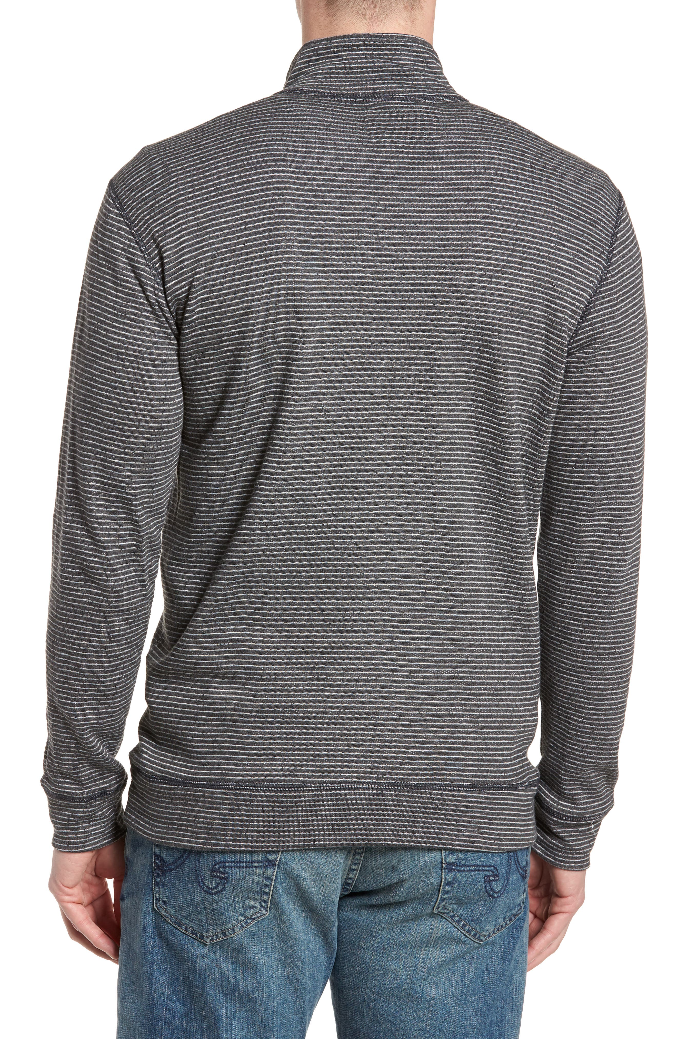 Space Dye Stripe French Terry Pullover,                             Alternate thumbnail 2, color,                             Charcoal