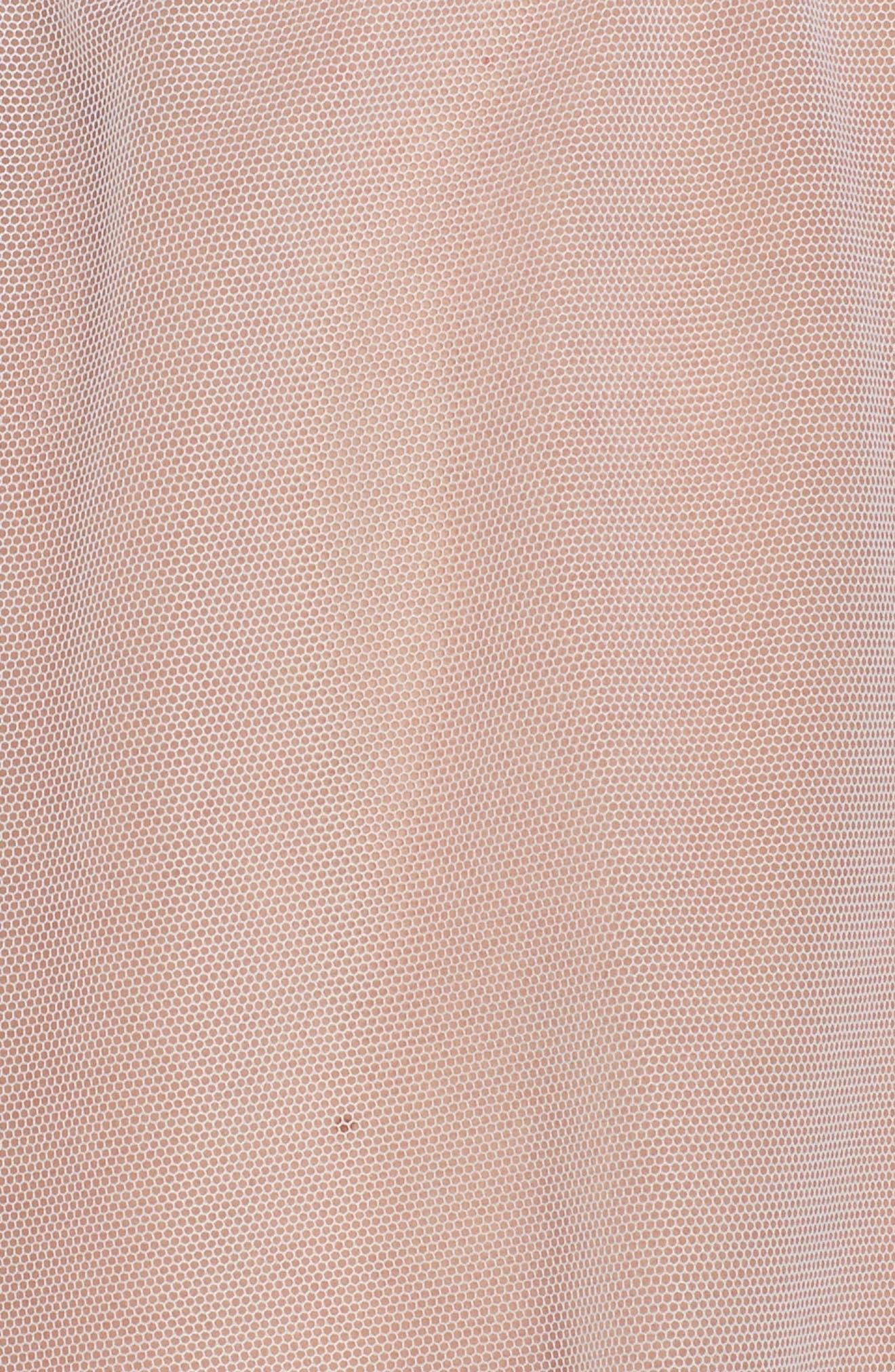 Lauryn Babydoll Chemise, G-String & Garter Set,                             Alternate thumbnail 6, color,                             White
