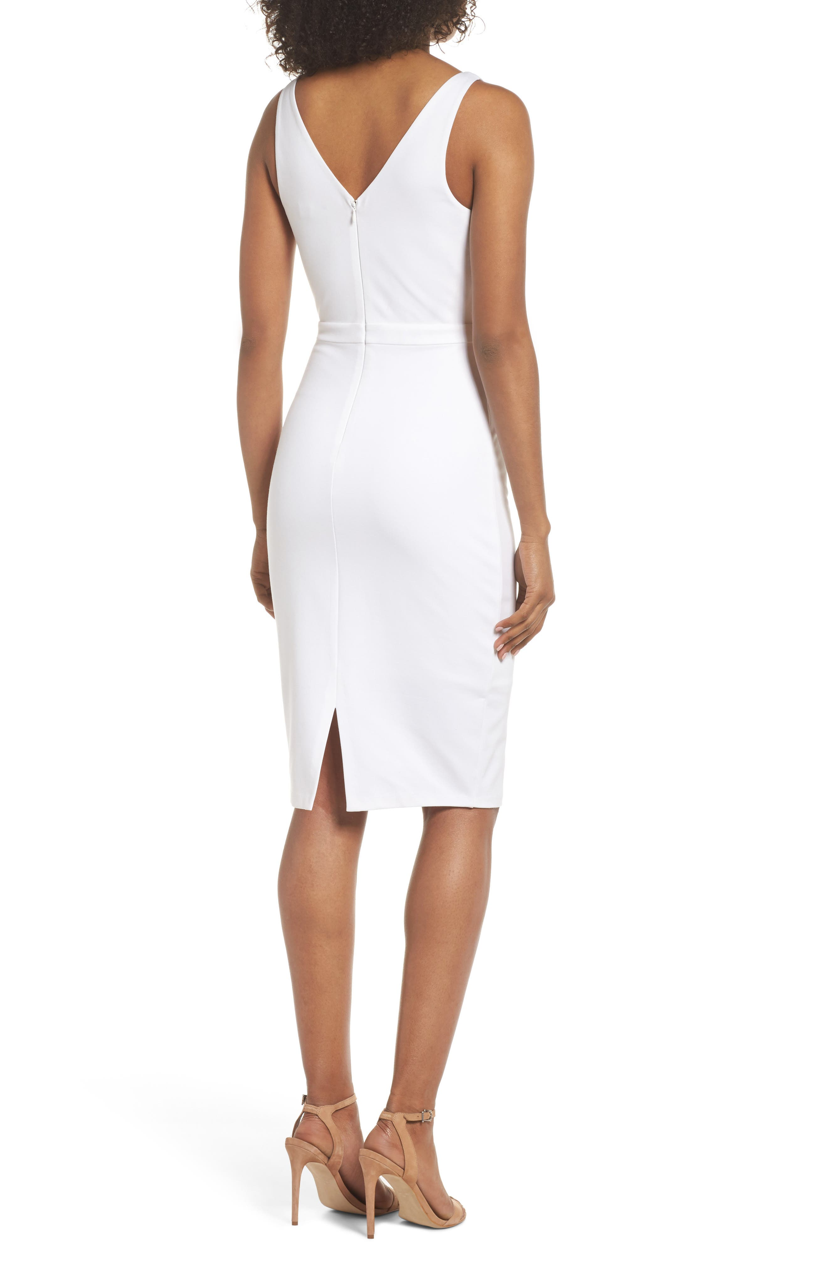 First Date Sheath Dress,                             Alternate thumbnail 3, color,                             White