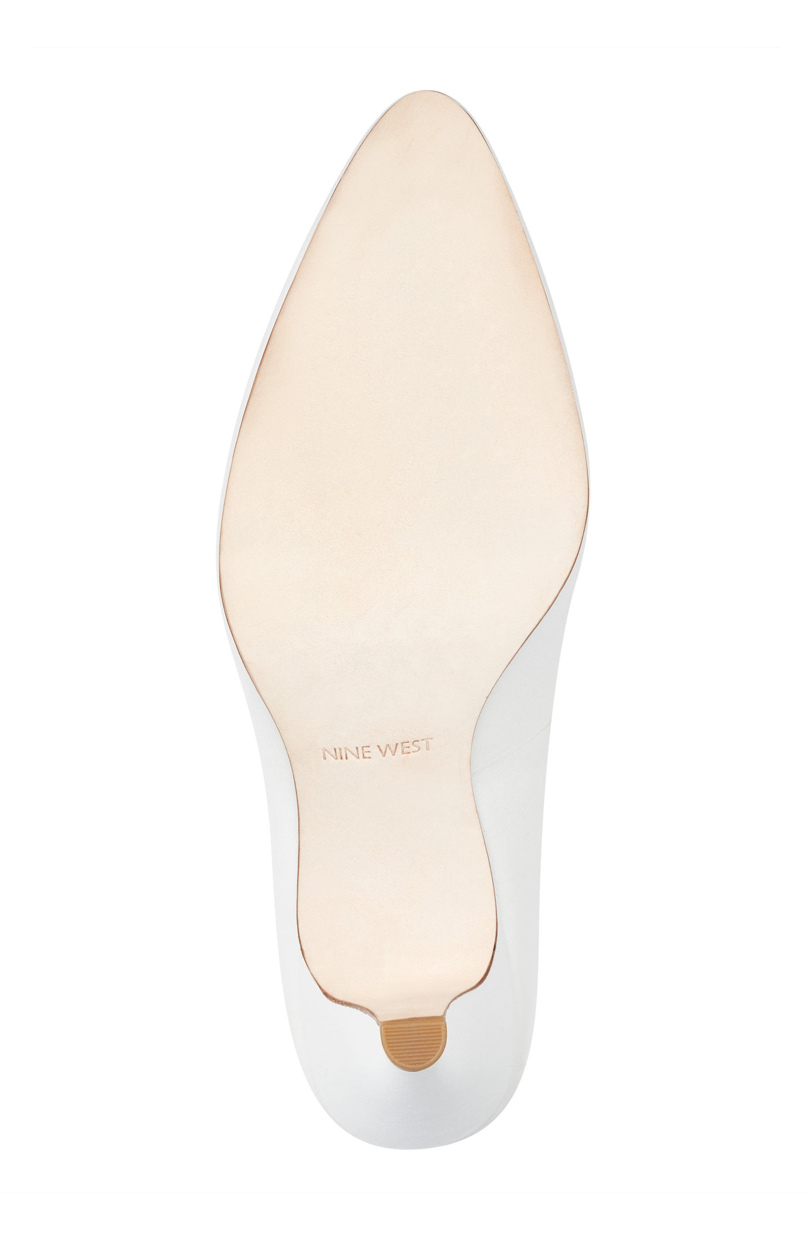 Faith - 40th Anniversary Capsule Collection Pump,                             Alternate thumbnail 6, color,                             White Leather