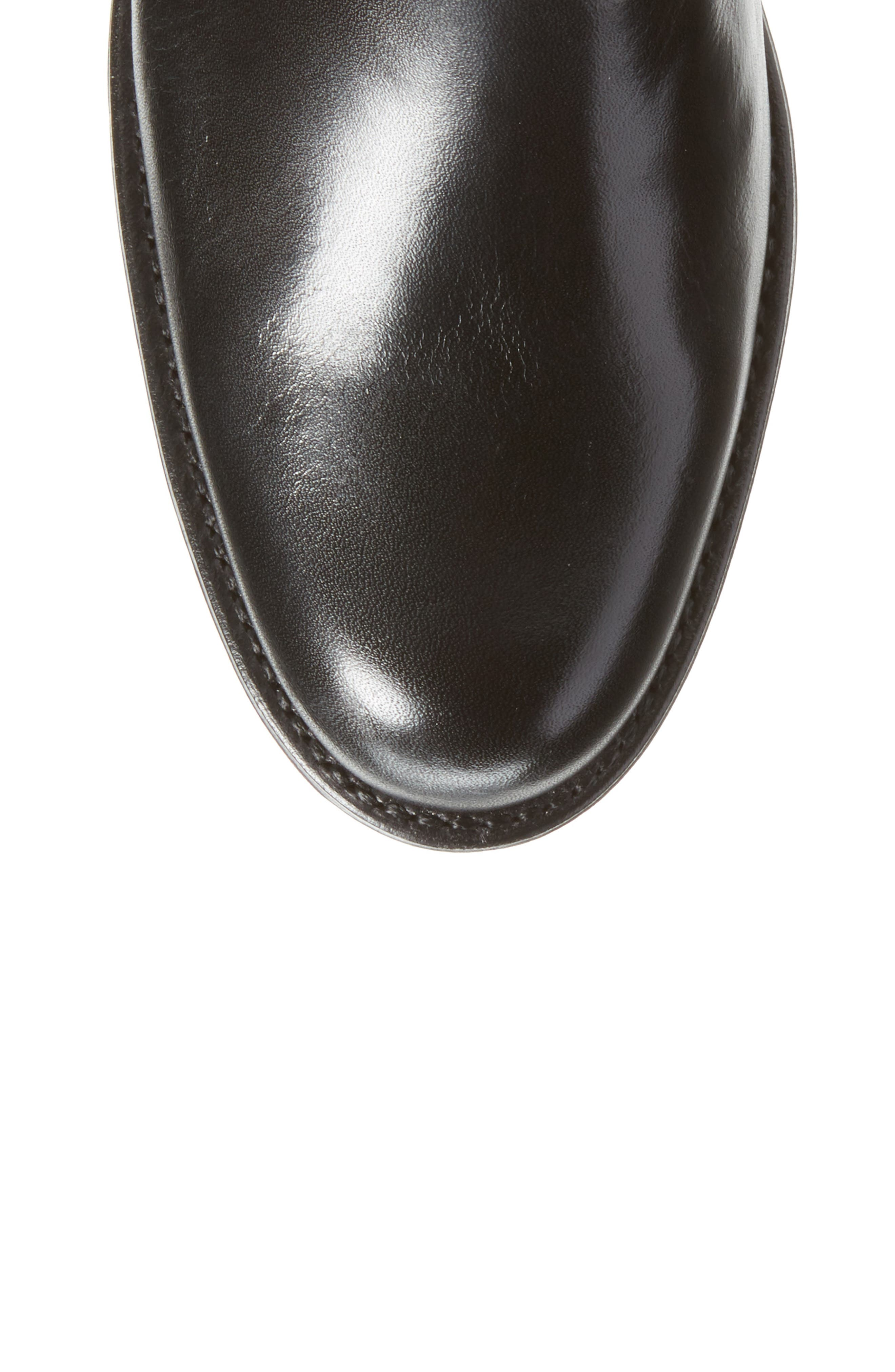 Pamplona Knee High Boot,                             Alternate thumbnail 5, color,                             Black Leather