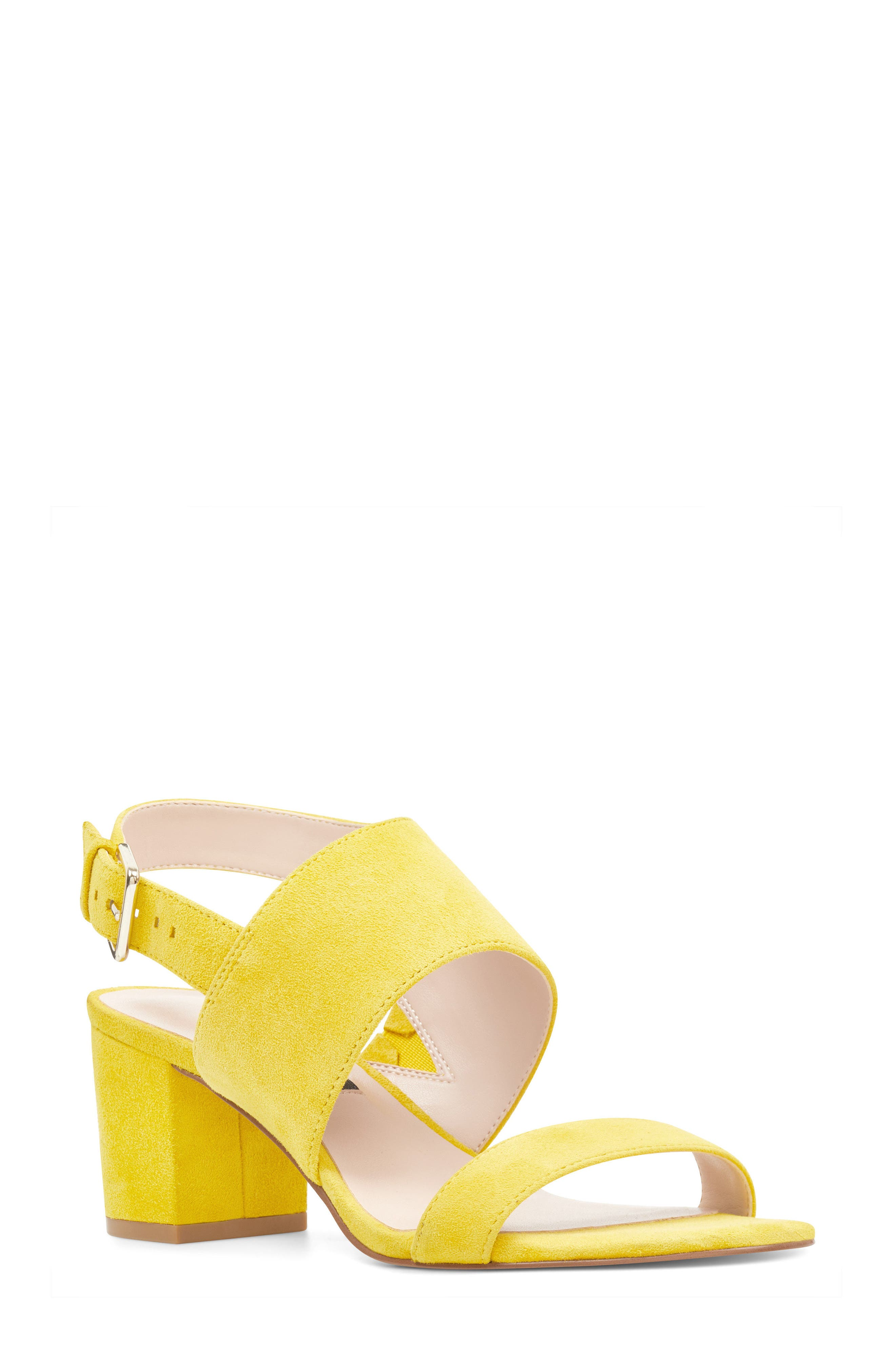 Forli Asymmetrical Sandal,                         Main,                         color, Yellow Suede