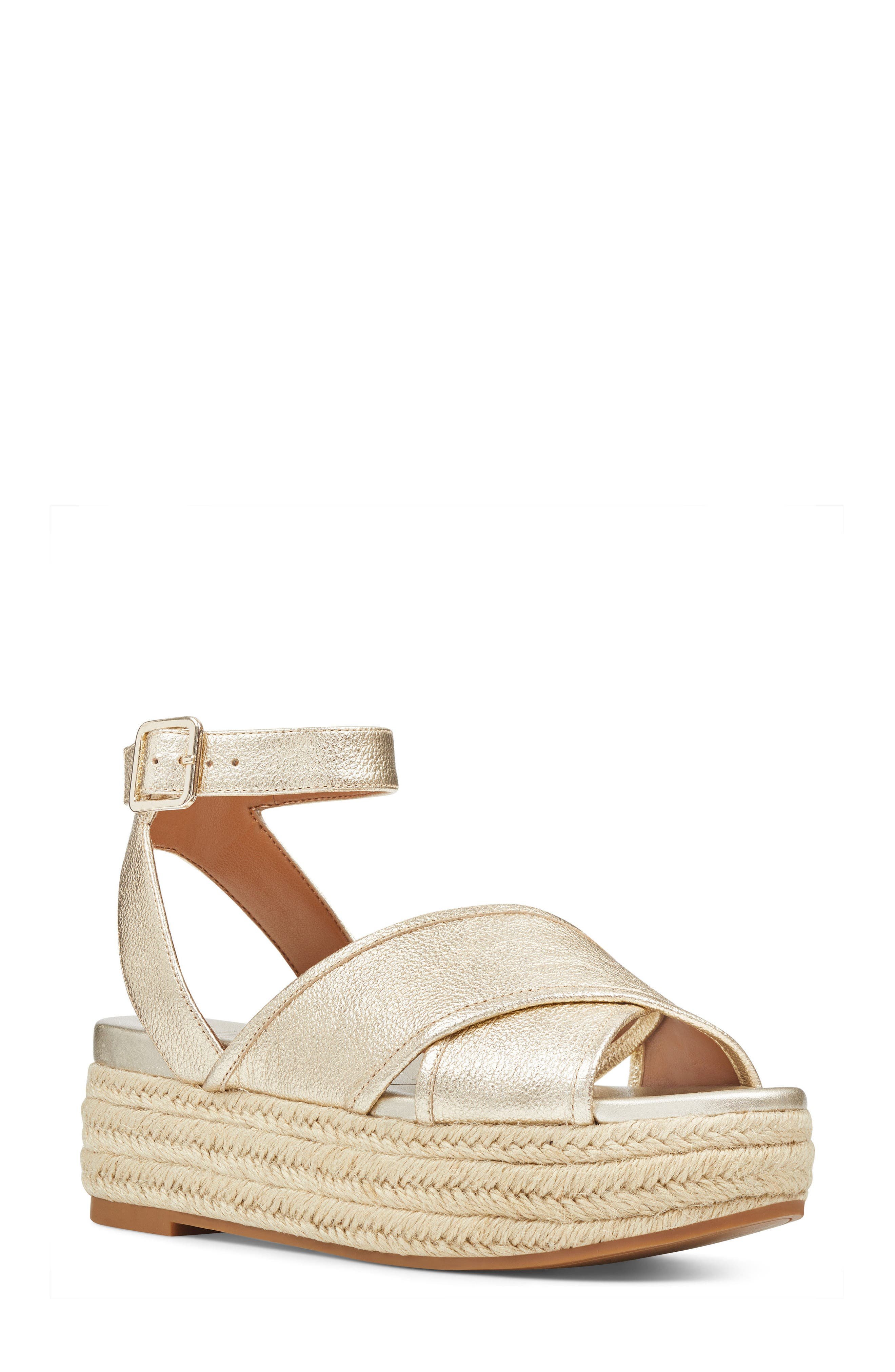 Nine West Showrunner Cross Strap Platform Sandal (Women)