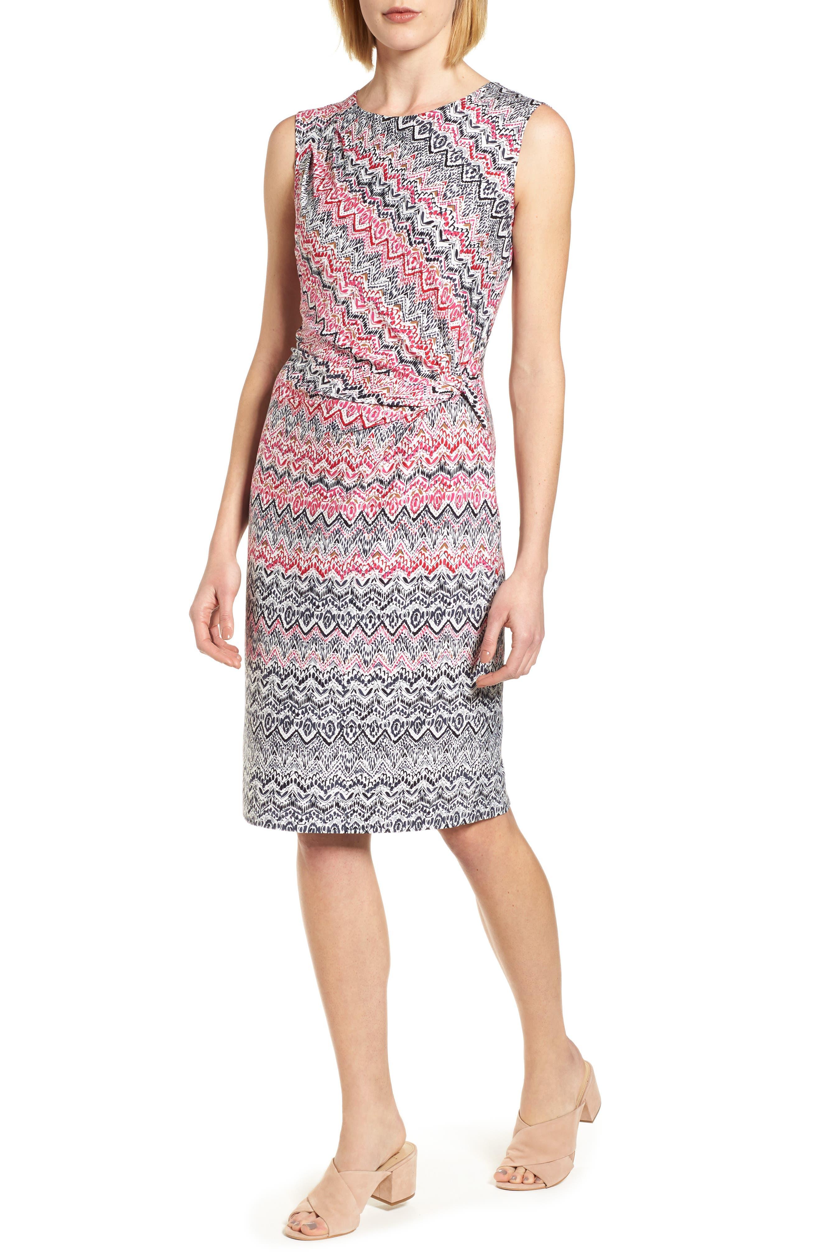 Alternate Image 1 Selected - NIC+ZOE Spiced Up Twist Sheath Dress (Regular & Petite)
