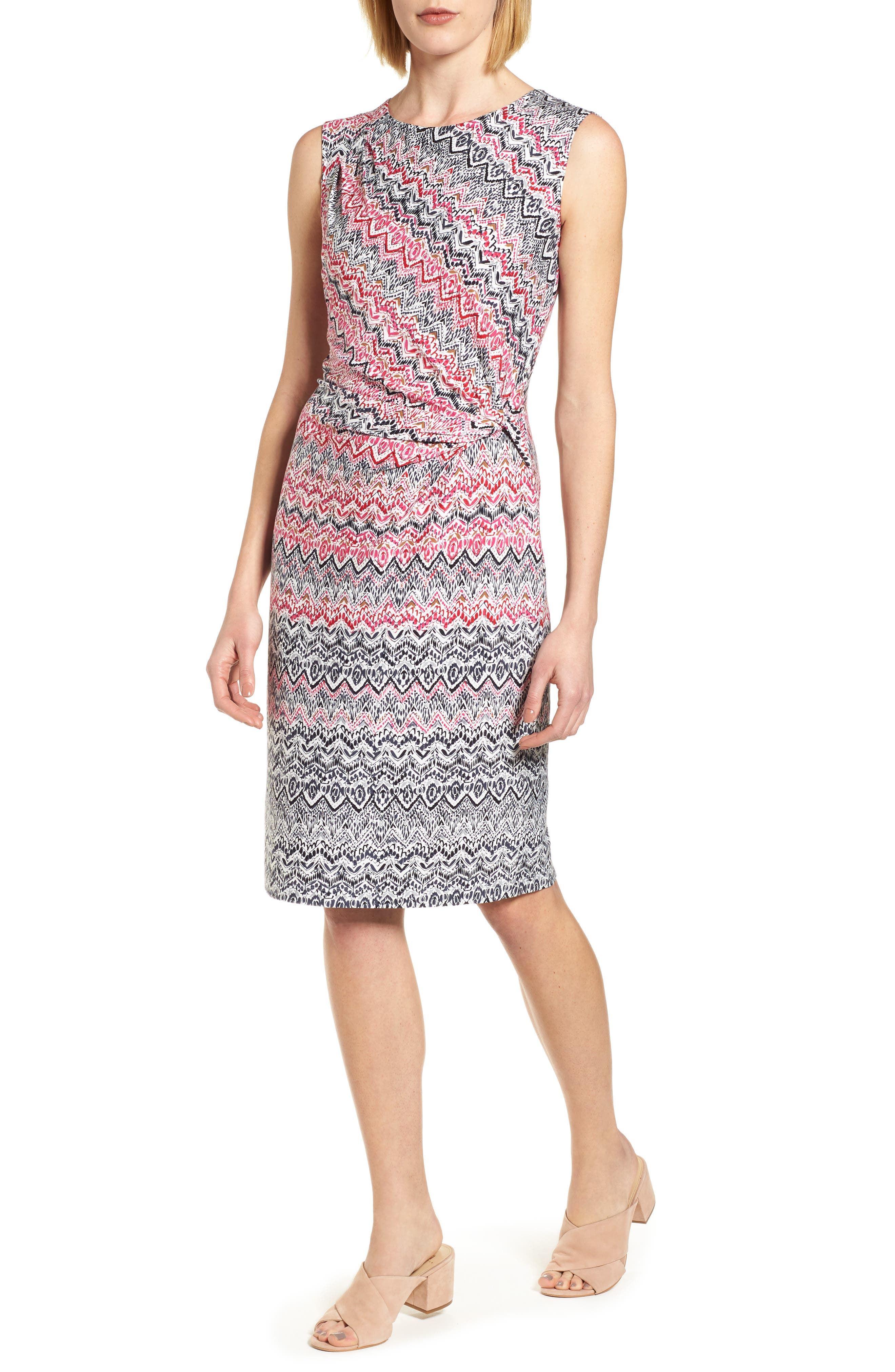 Main Image - NIC+ZOE Spiced Up Twist Sheath Dress (Regular & Petite)