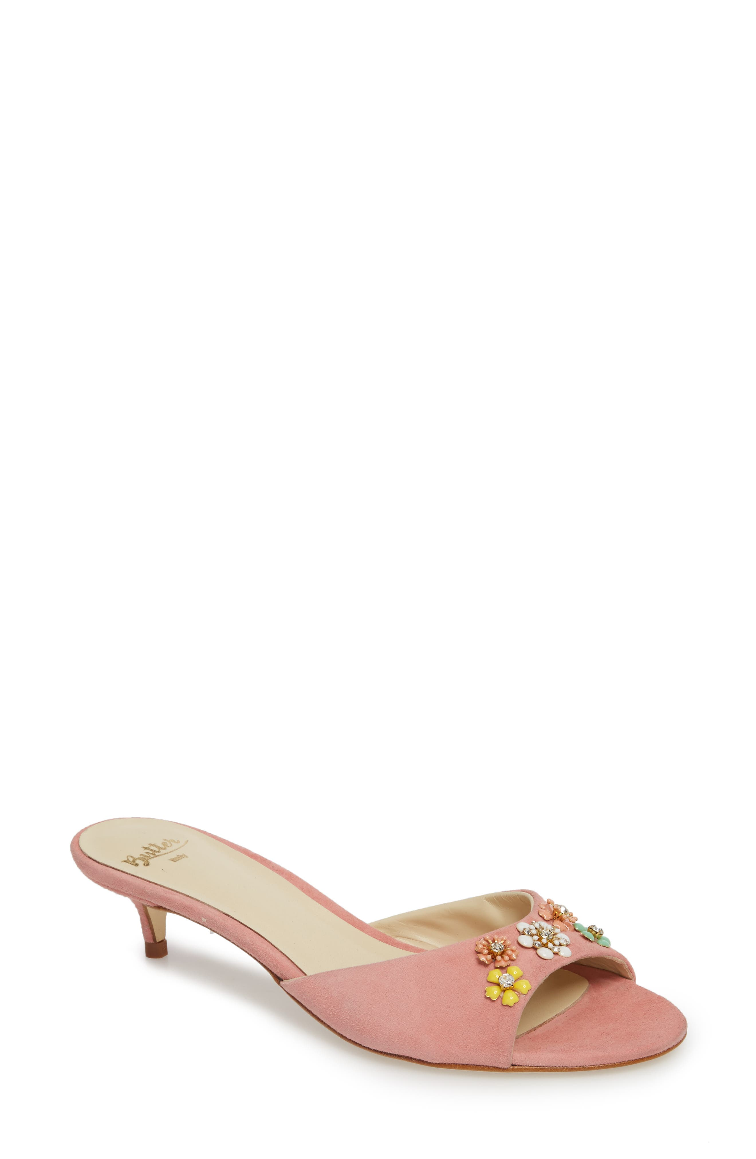 Butter Betteye Embellished Mule,                         Main,                         color, Seashell Suede