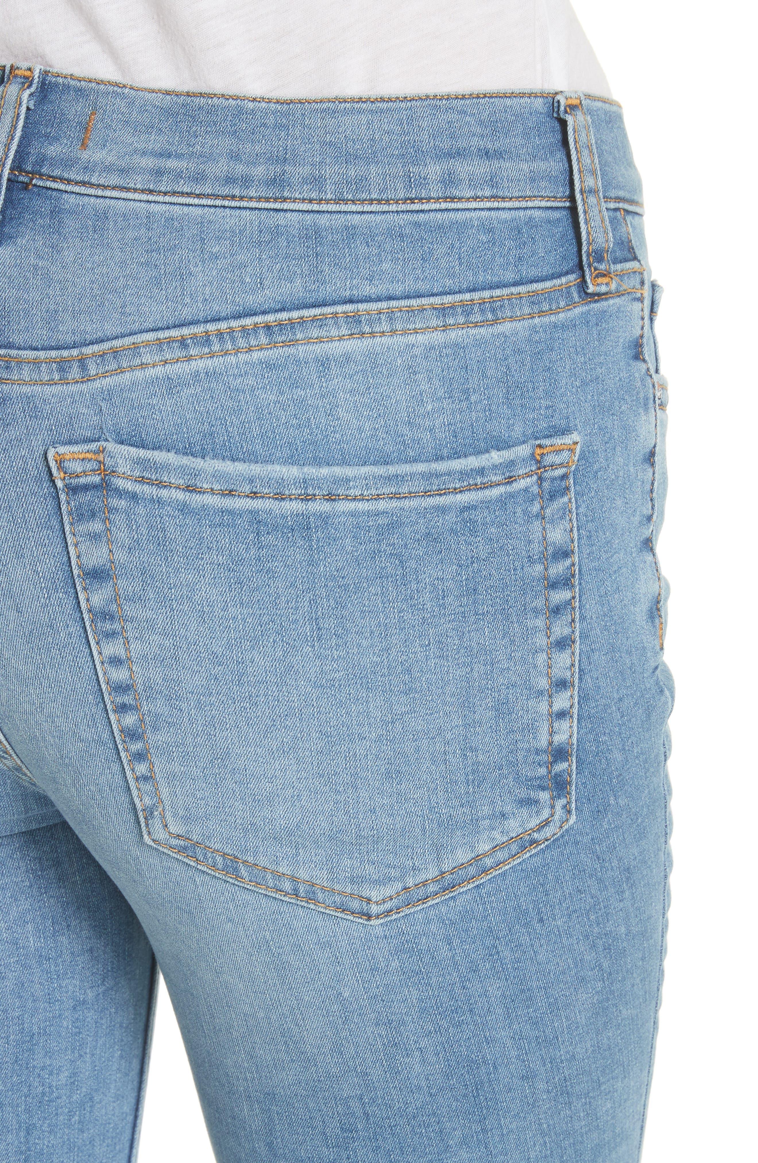 Alternate Image 4  - Free People High Waist Ankle Skinny Jeans