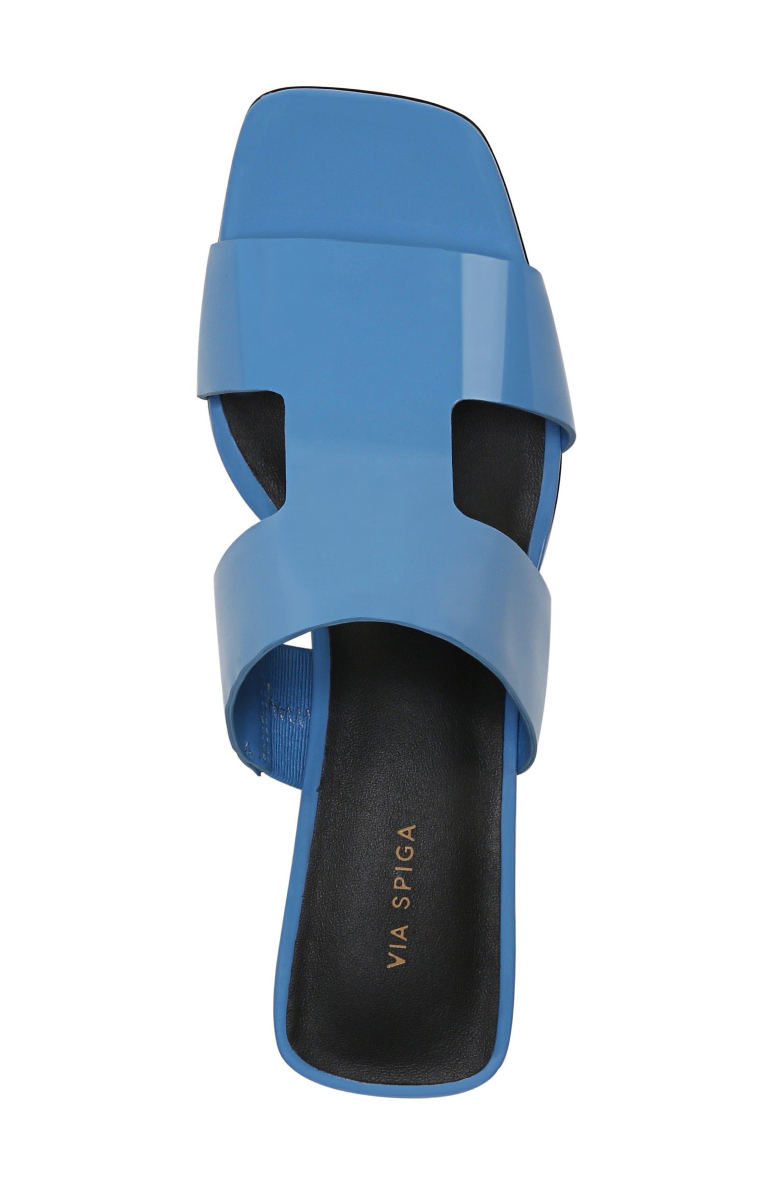 Florence Sandal,                             Alternate thumbnail 5, color,                             Sky Patent Leather