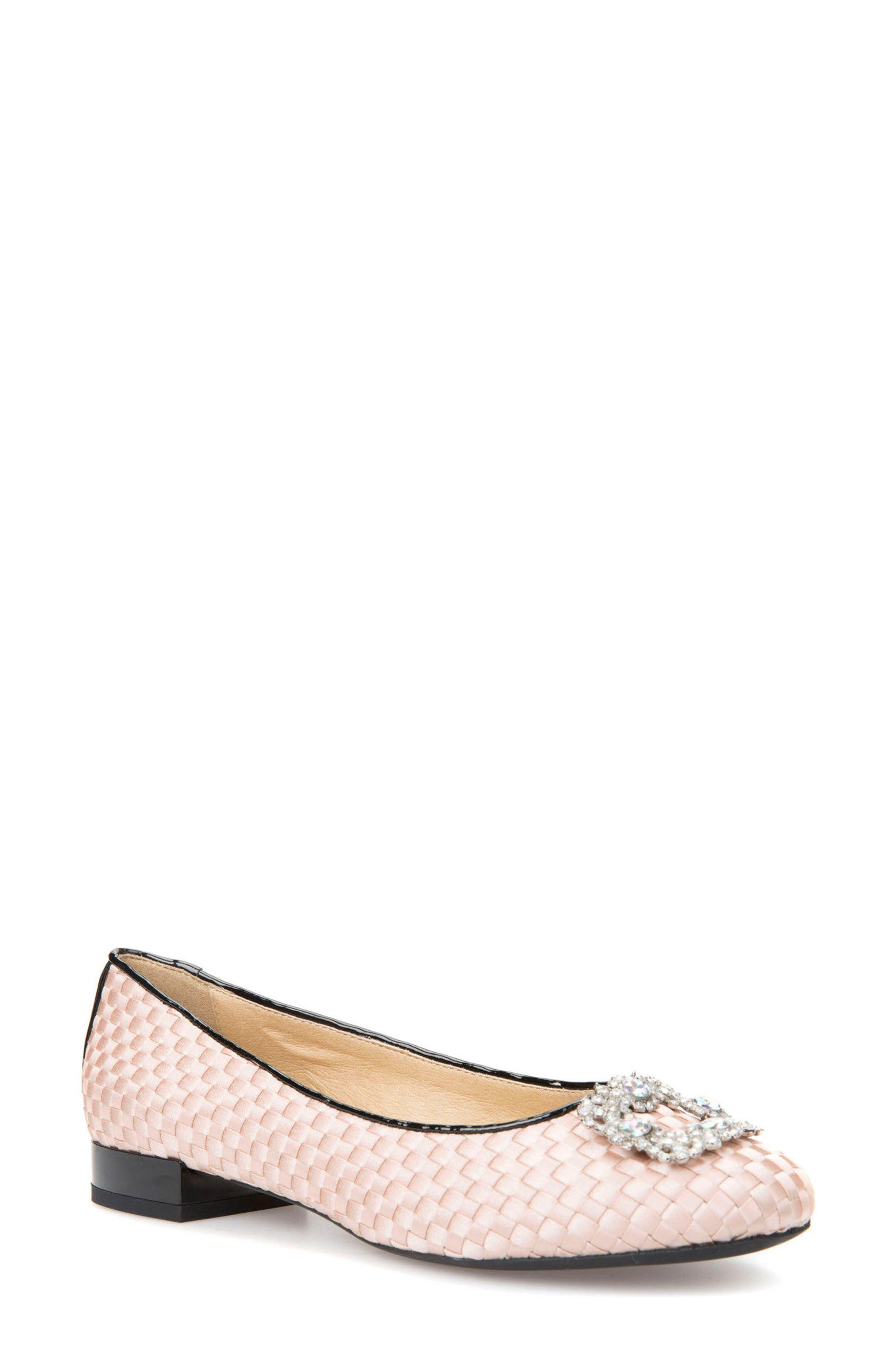 Main Image - Geox Wistrey Woven Embellished Slip-On (Women)