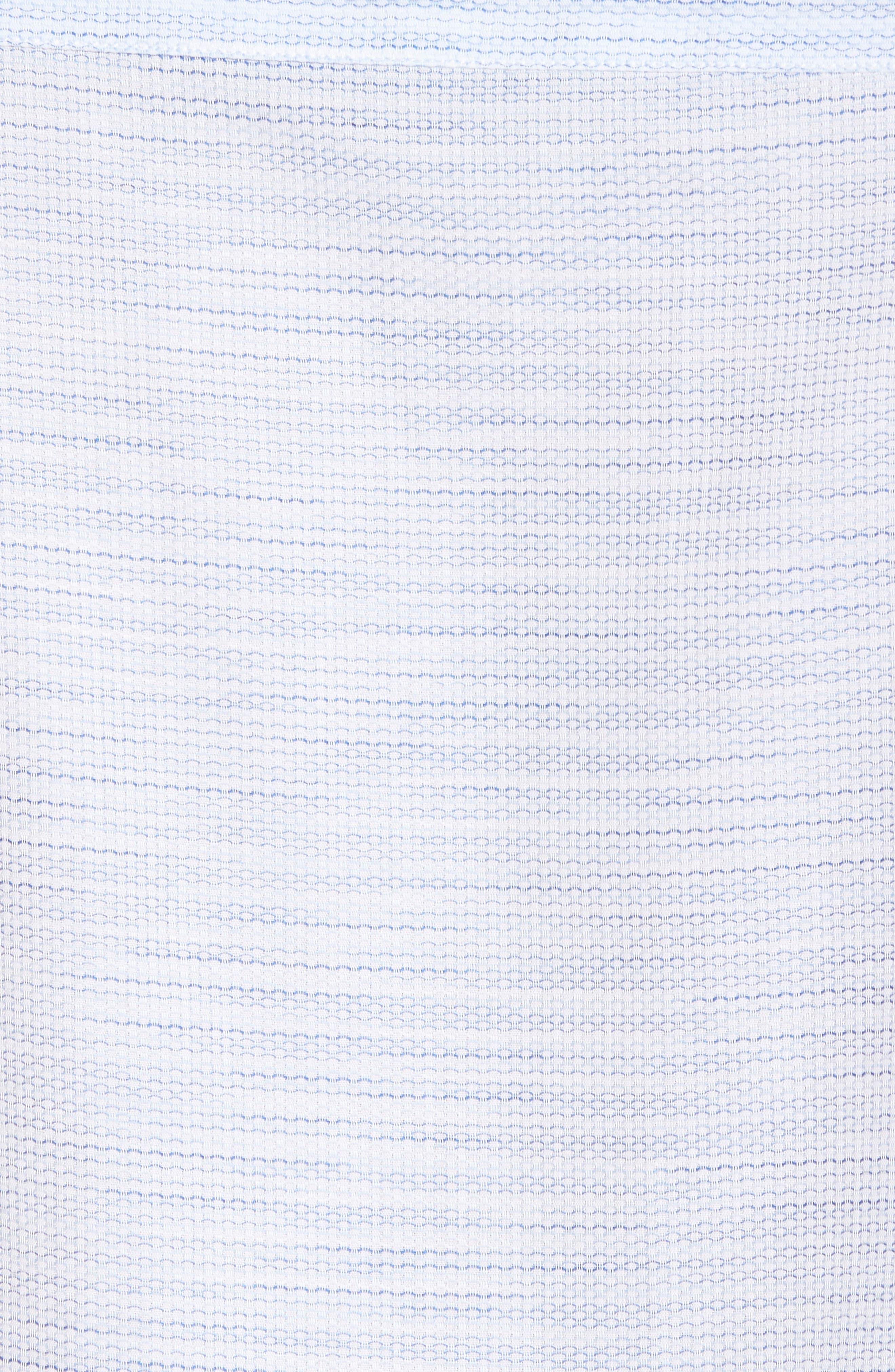 Slim Fit Stripe Short Sleeve Sport Shirt,                             Alternate thumbnail 5, color,                             Light/ Pastel Blue Dobby