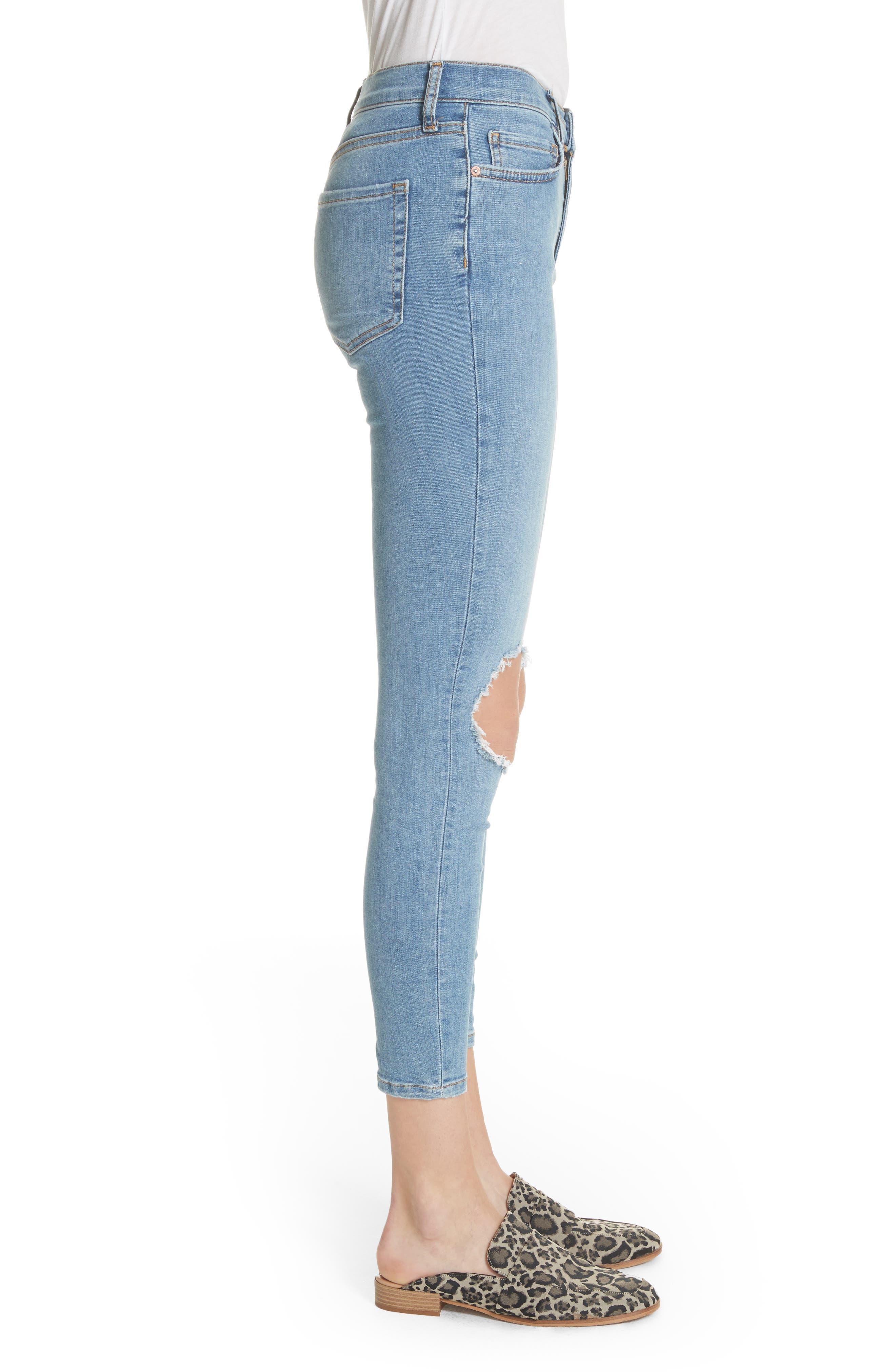 Alternate Image 2  - Free People High Waist Ankle Skinny Jeans