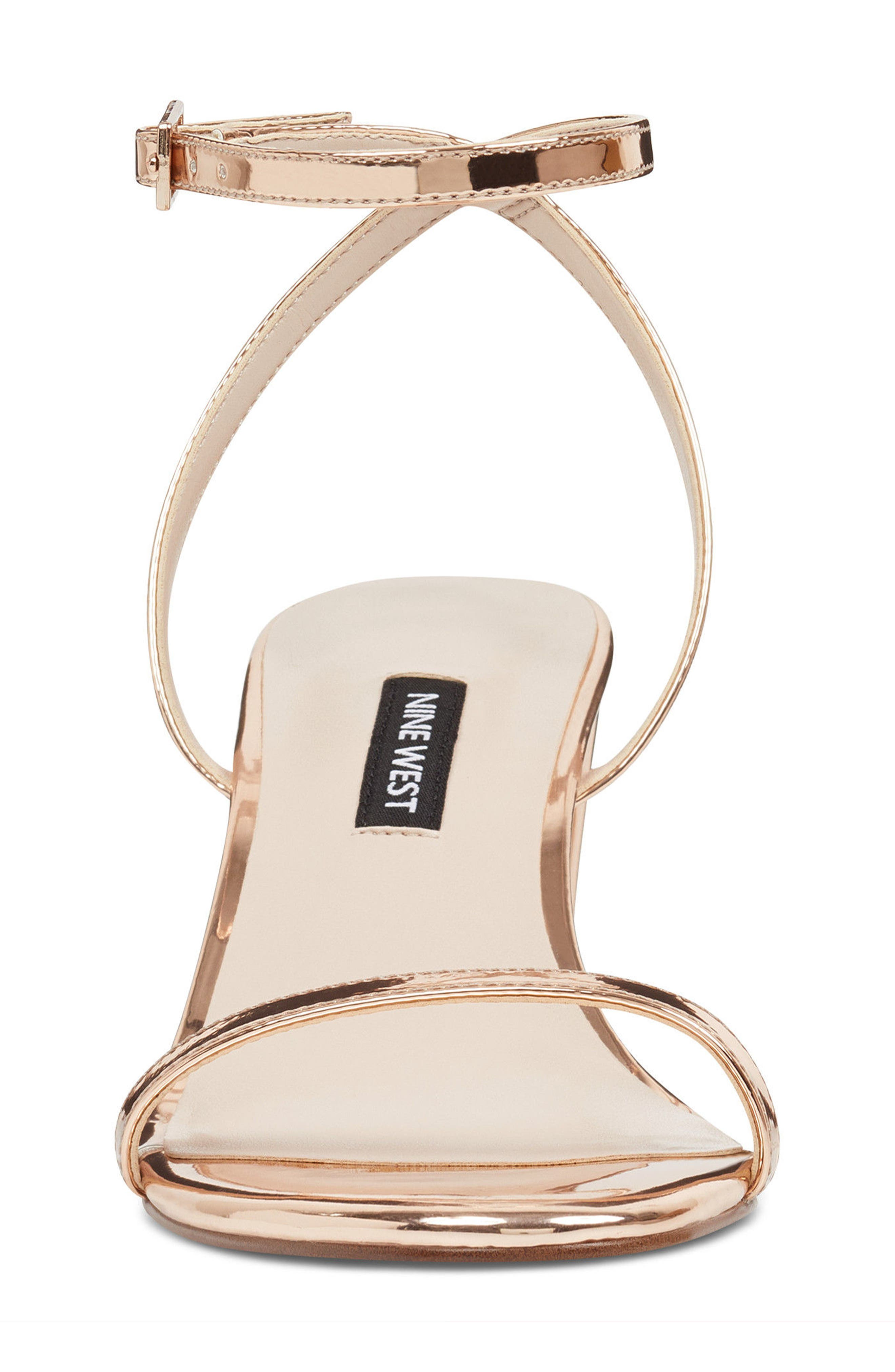 Provein Strappy Sandal,                             Alternate thumbnail 4, color,                             Pink Faux Leather