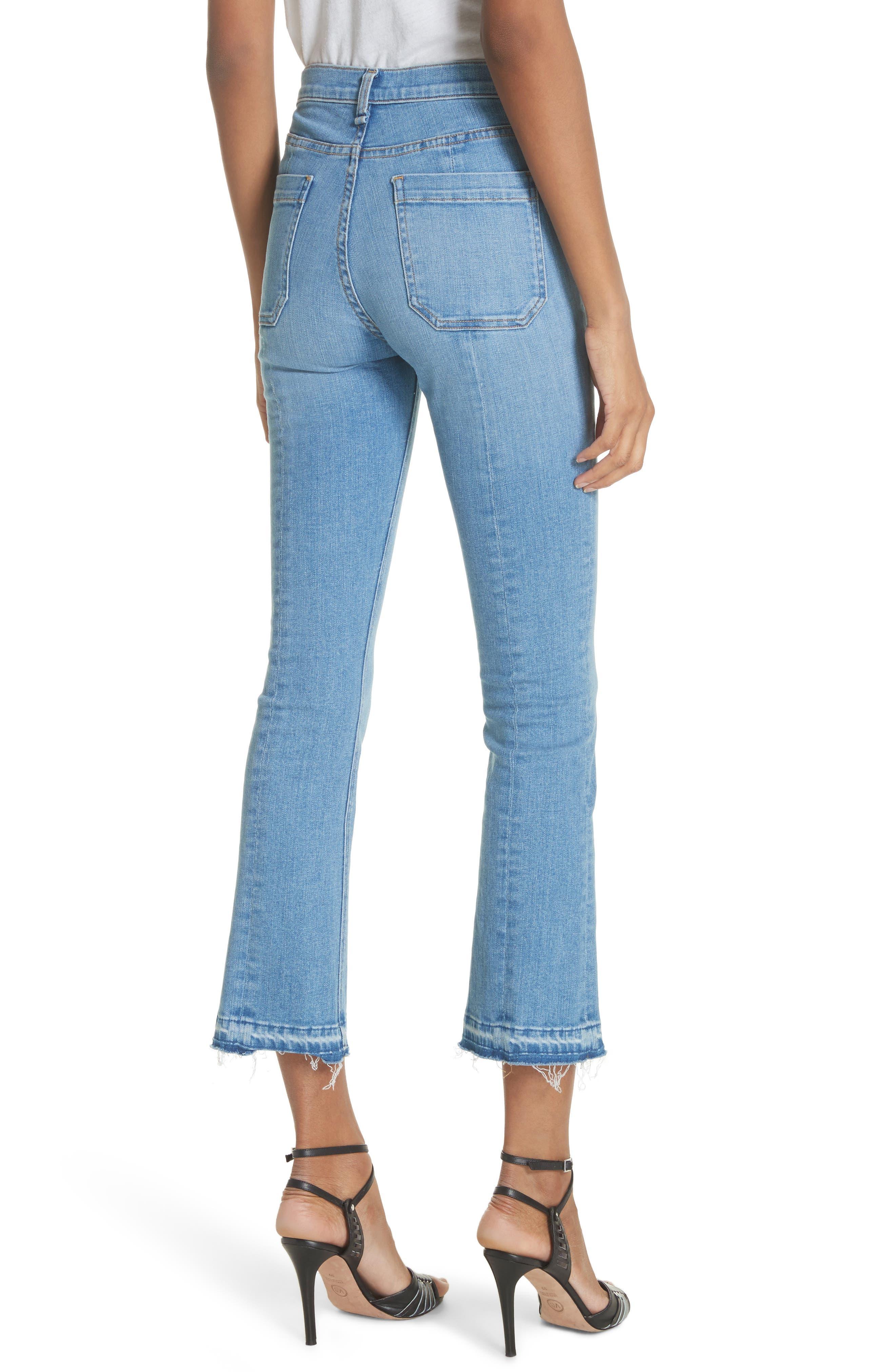 Carolyn Crop Baby Boot Jeans,                             Alternate thumbnail 2, color,                             Ocean Blue