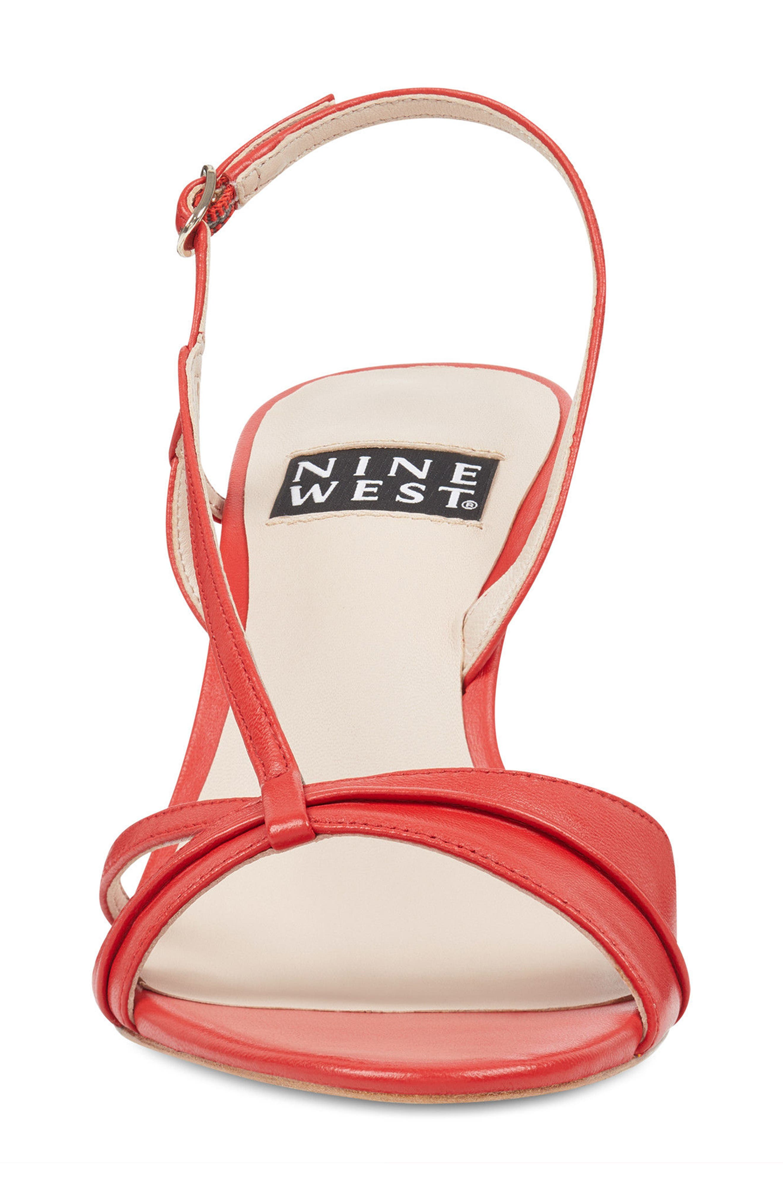 Accolia - 40th Anniversary Capsule Collection Sandal,                             Alternate thumbnail 4, color,                             Red Leather