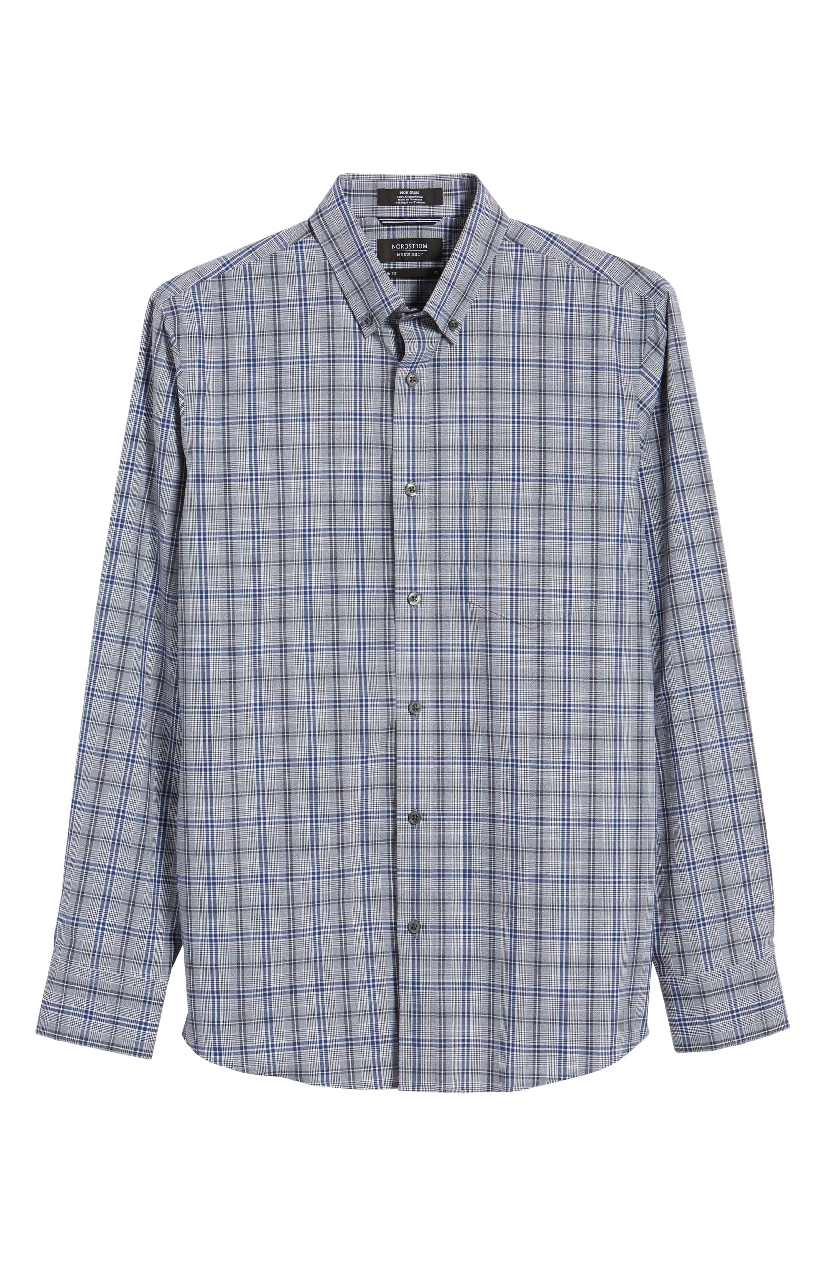 Alternate Image 6  - Nordstrom Men's Shop Trim Fit Non-Iron Check Sport Shirt