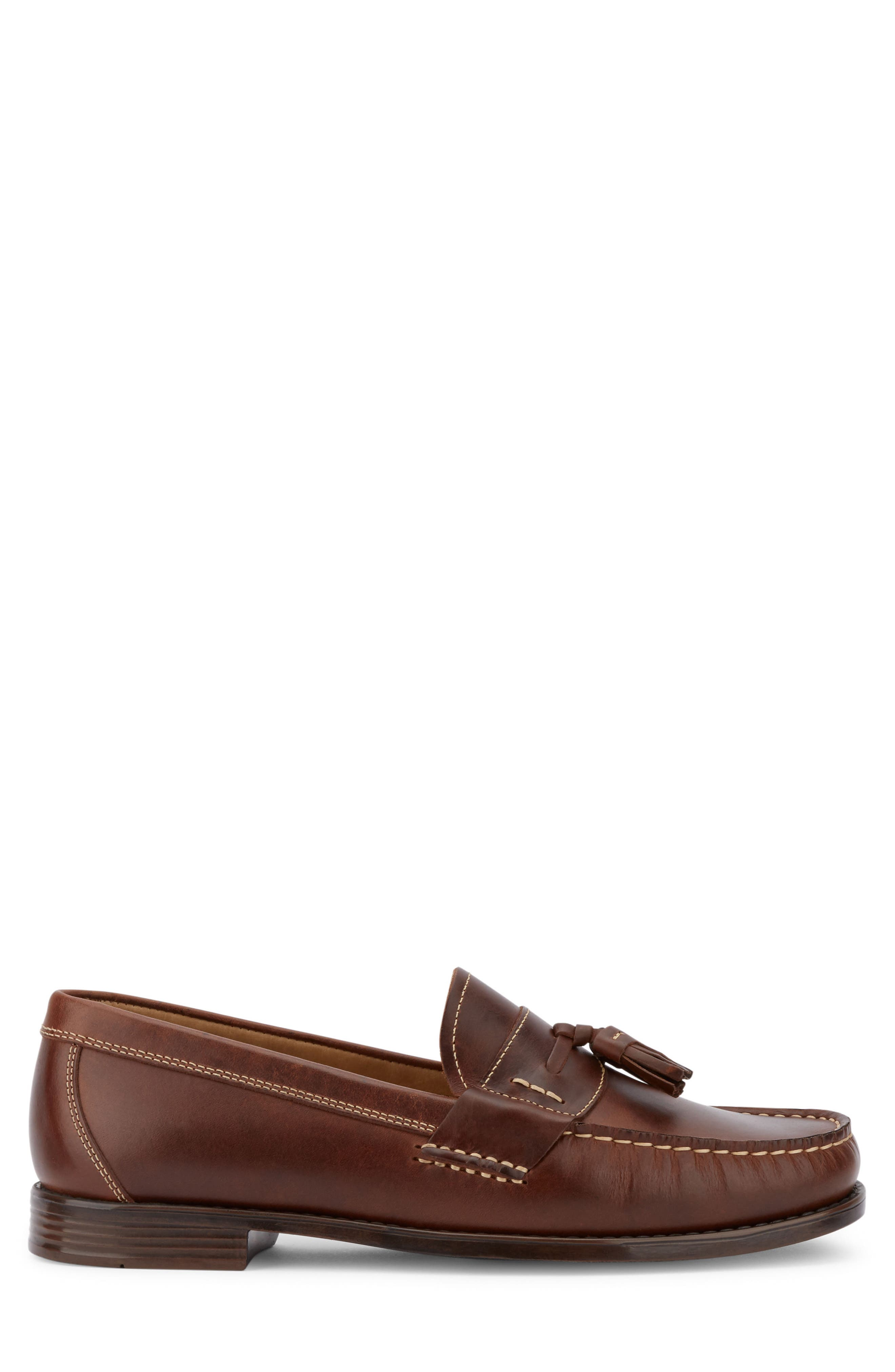 Wallace Tassel Loafer,                             Alternate thumbnail 3, color,                             Dark Brown Leather