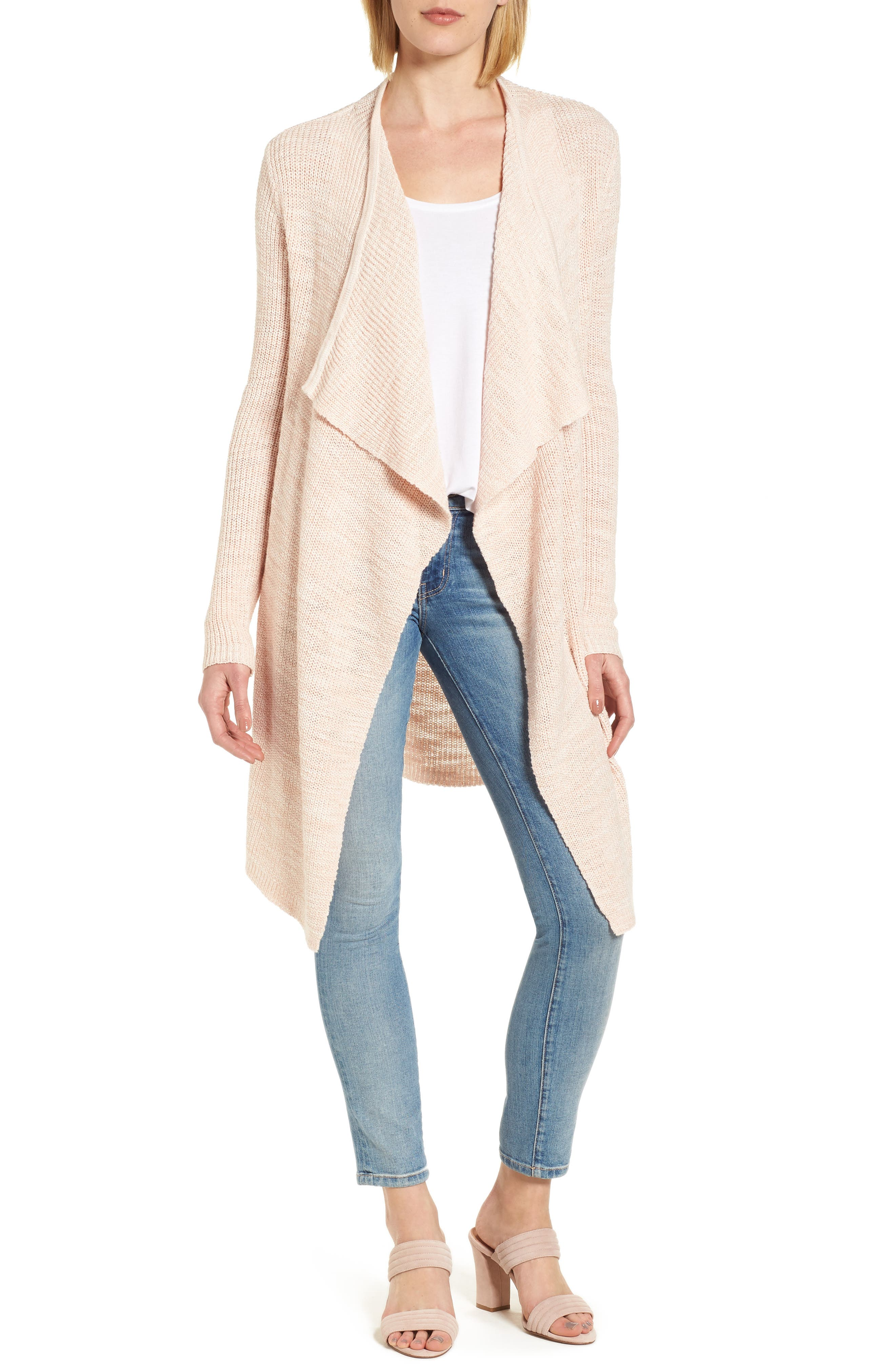 Caslon® Drape Collar Cardigan (Regular & Petite)