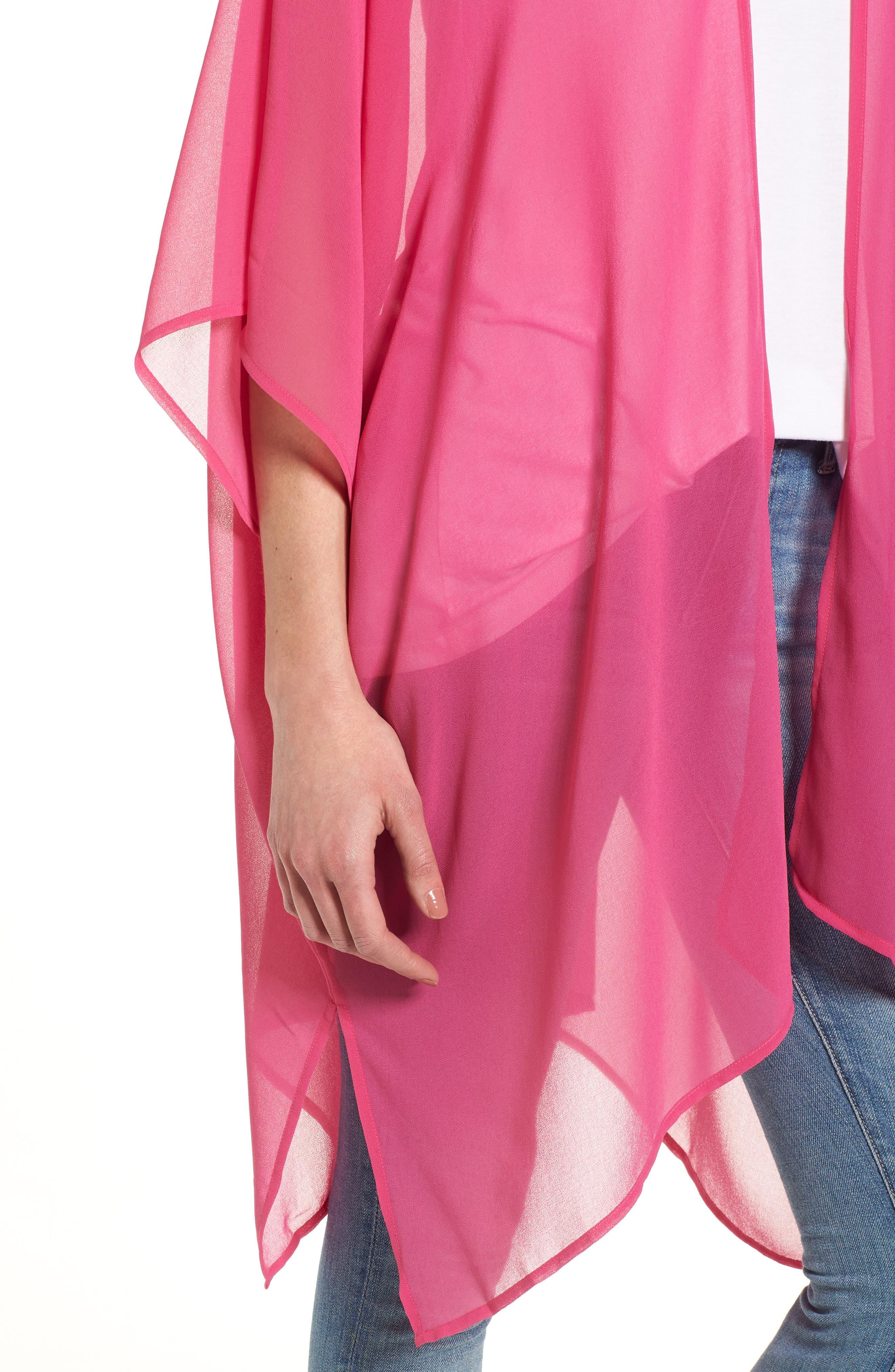 Alternate Image 4  - Nordstrom Chiffon Cover-Up Kimono