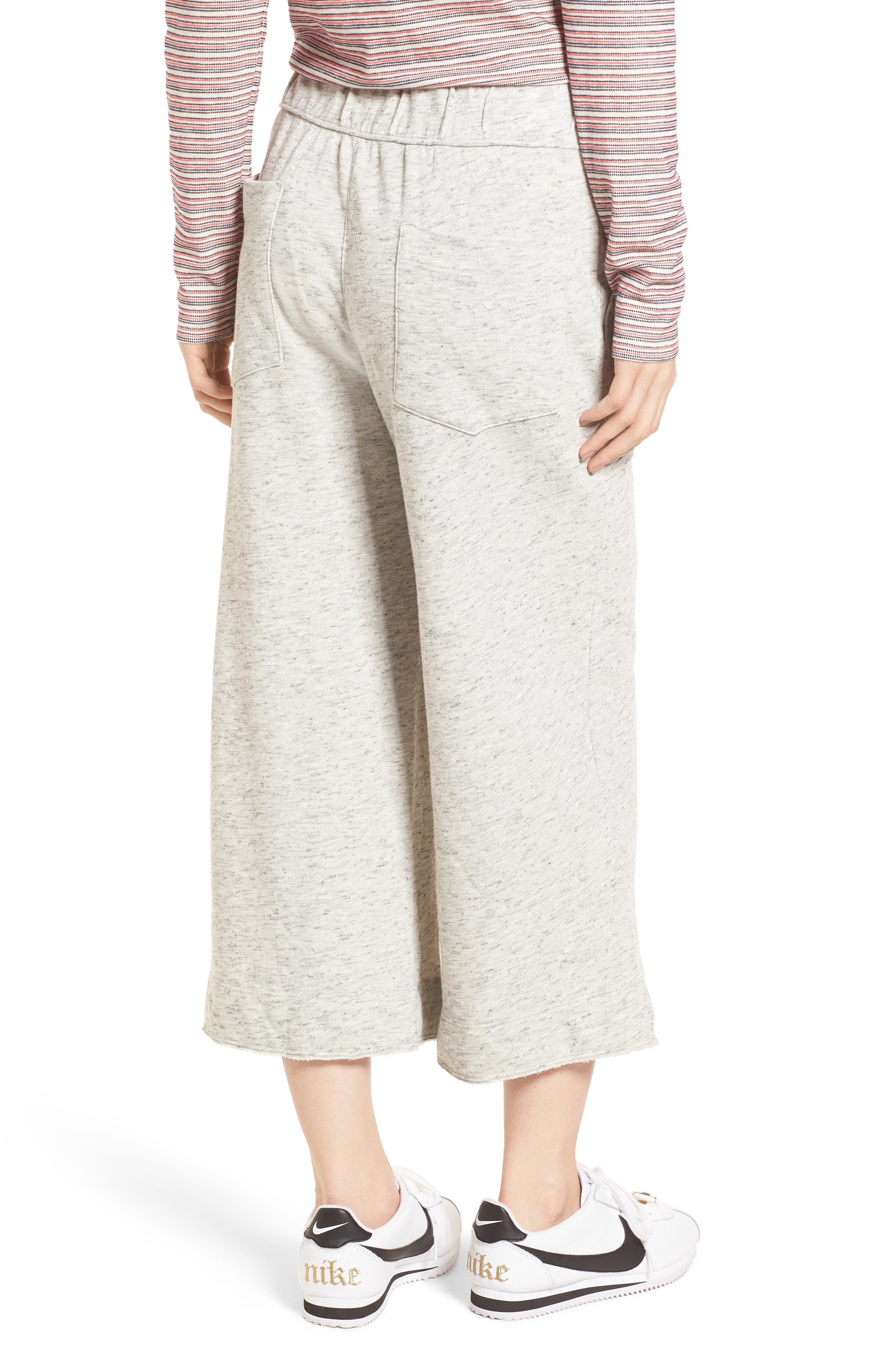 Sidelight Culotte Sweatpants,                             Alternate thumbnail 2, color,                             Grey