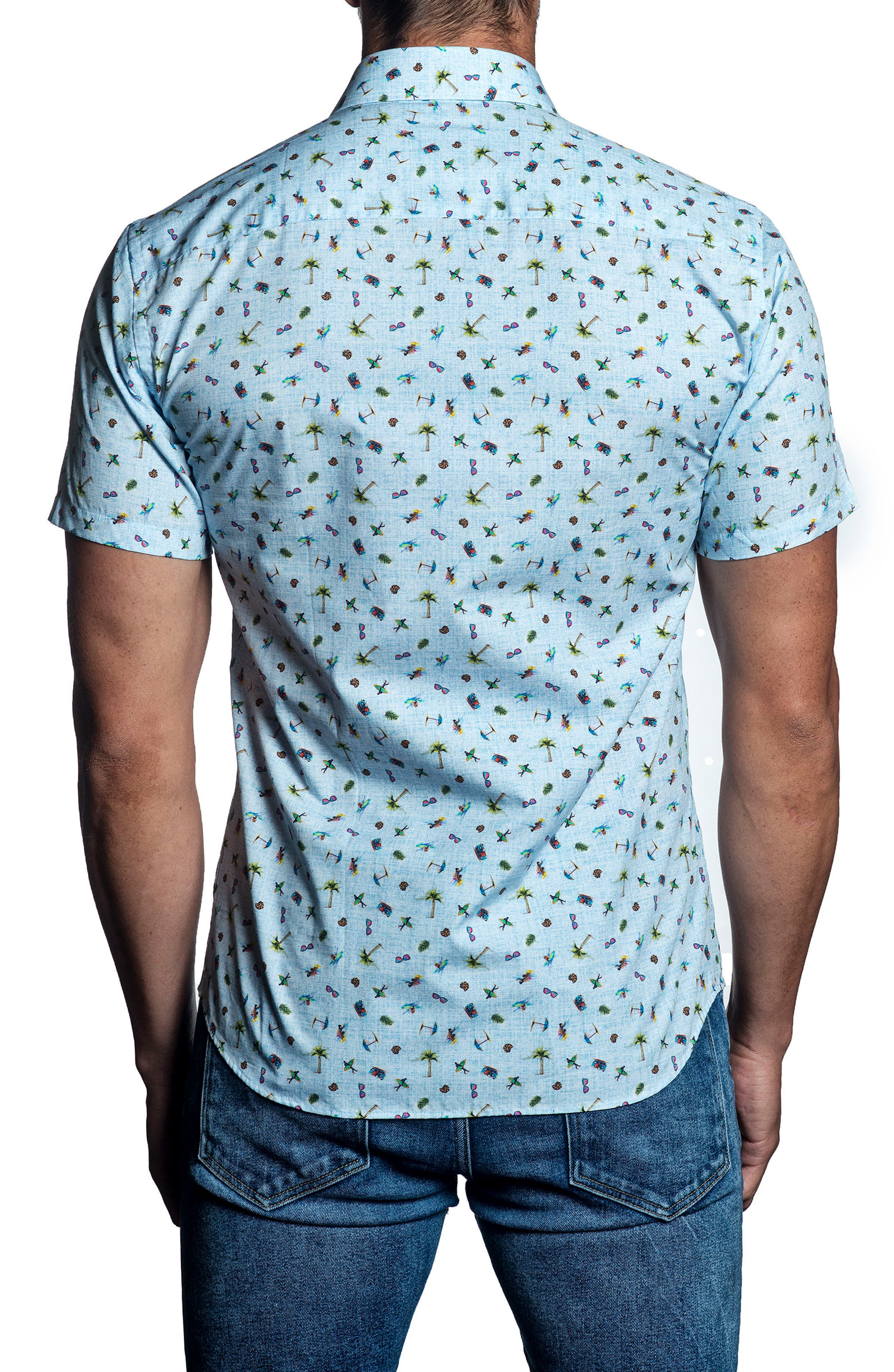 Alternate Image 2  - Jared Lang Print Sport Shirt