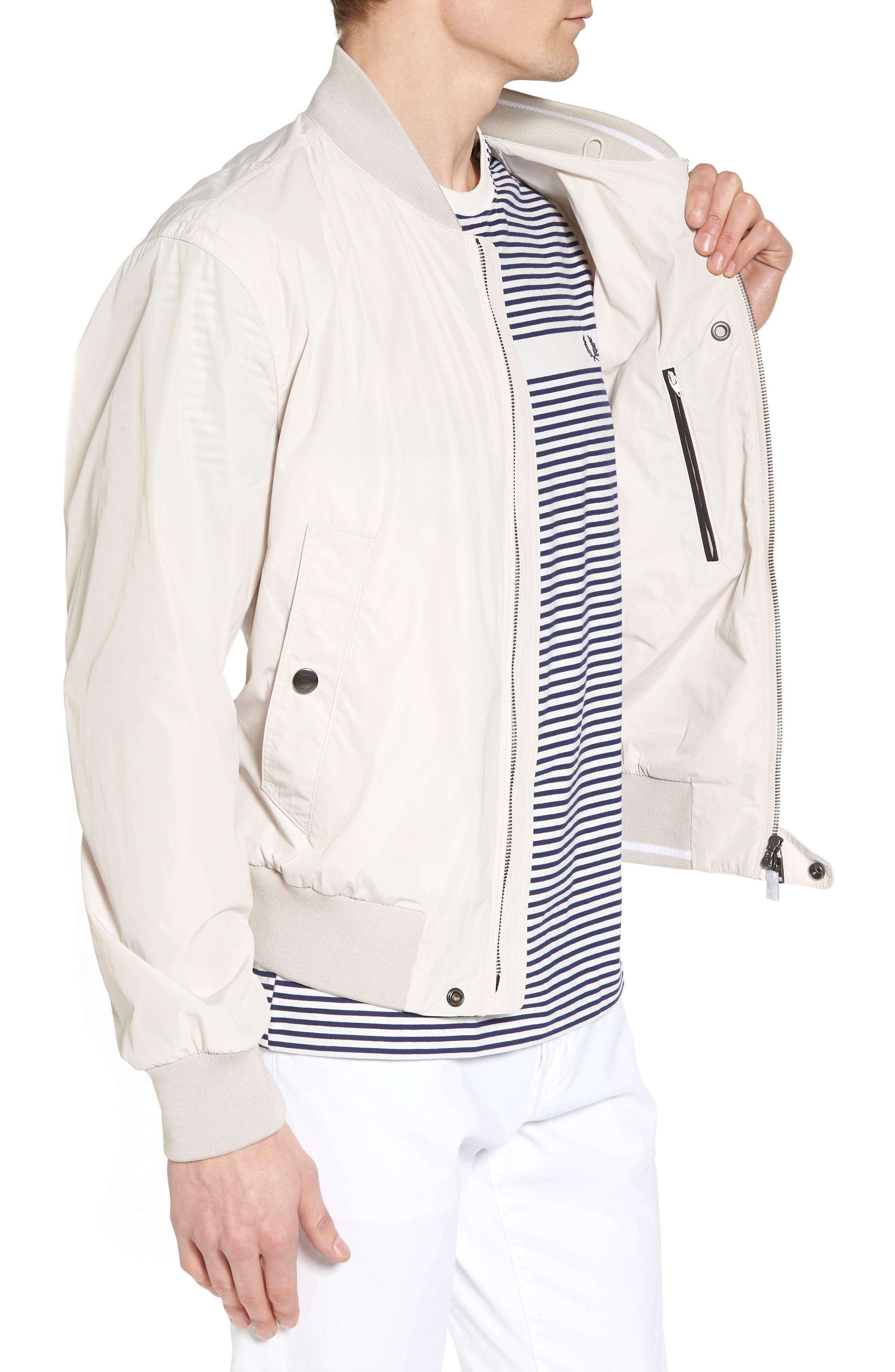 Regular Fit Bomber Jacket,                             Alternate thumbnail 3, color,                             White