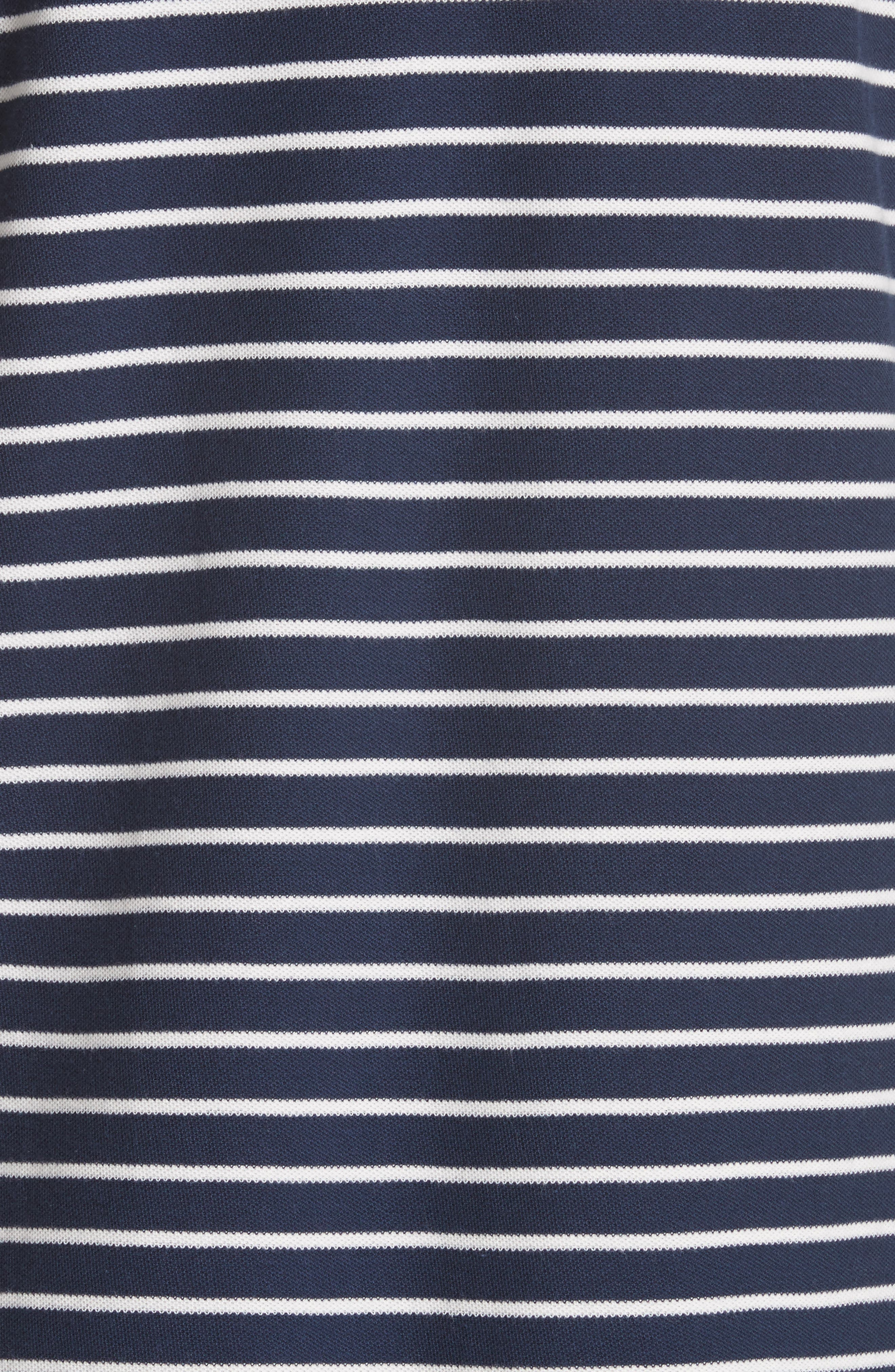 Stripe Shift Dress,                             Alternate thumbnail 5, color,                             Navy/ Chalk Stripe