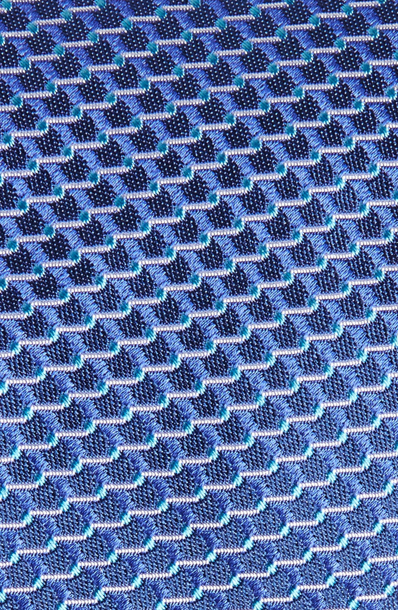 Geometric Silk Tie,                             Alternate thumbnail 2, color,                             Blue