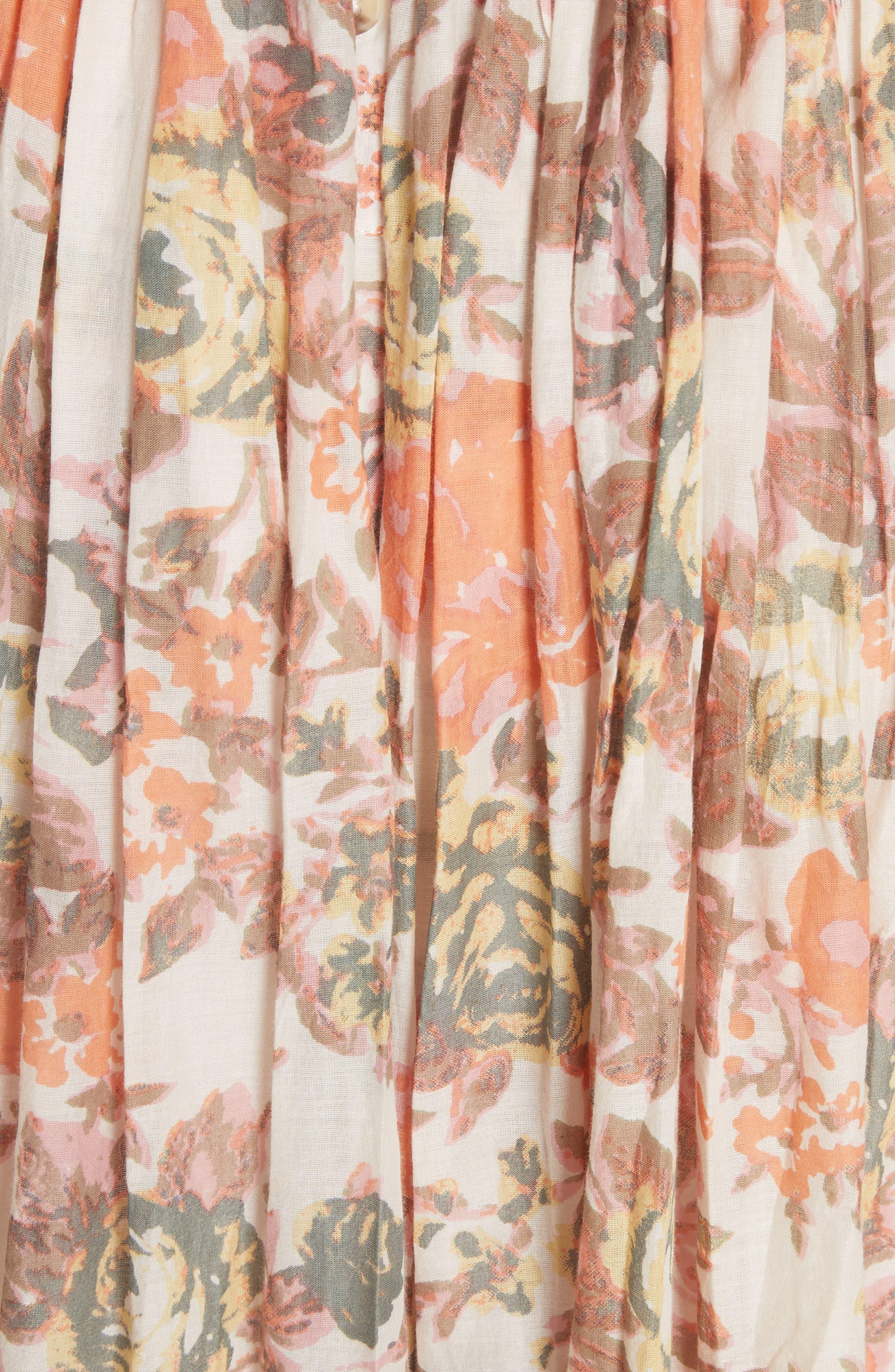 Love You Midi Dress,                             Alternate thumbnail 6, color,                             Ivory