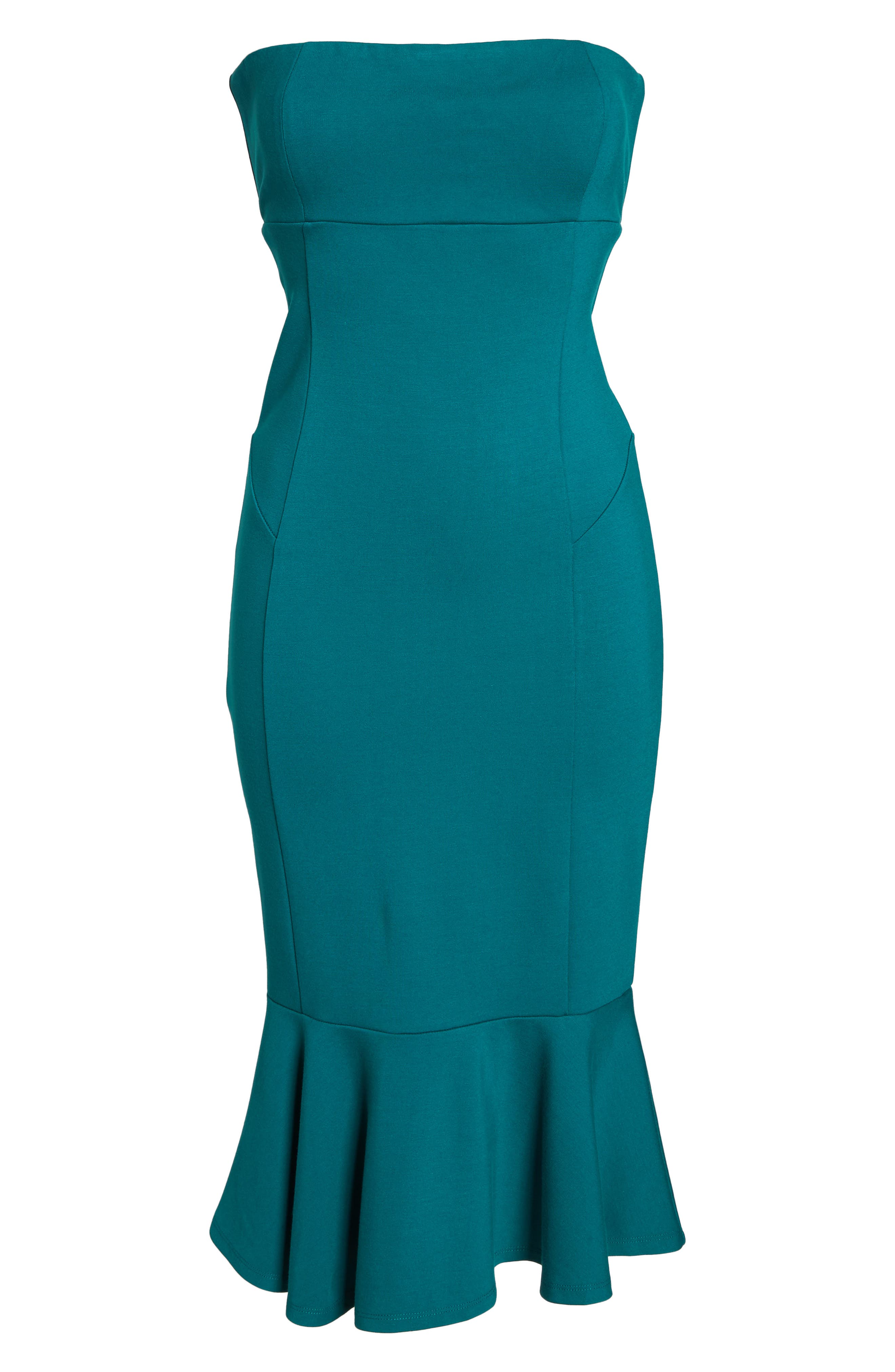 Zabrina Strapless Dress,                             Alternate thumbnail 6, color,                             Jade