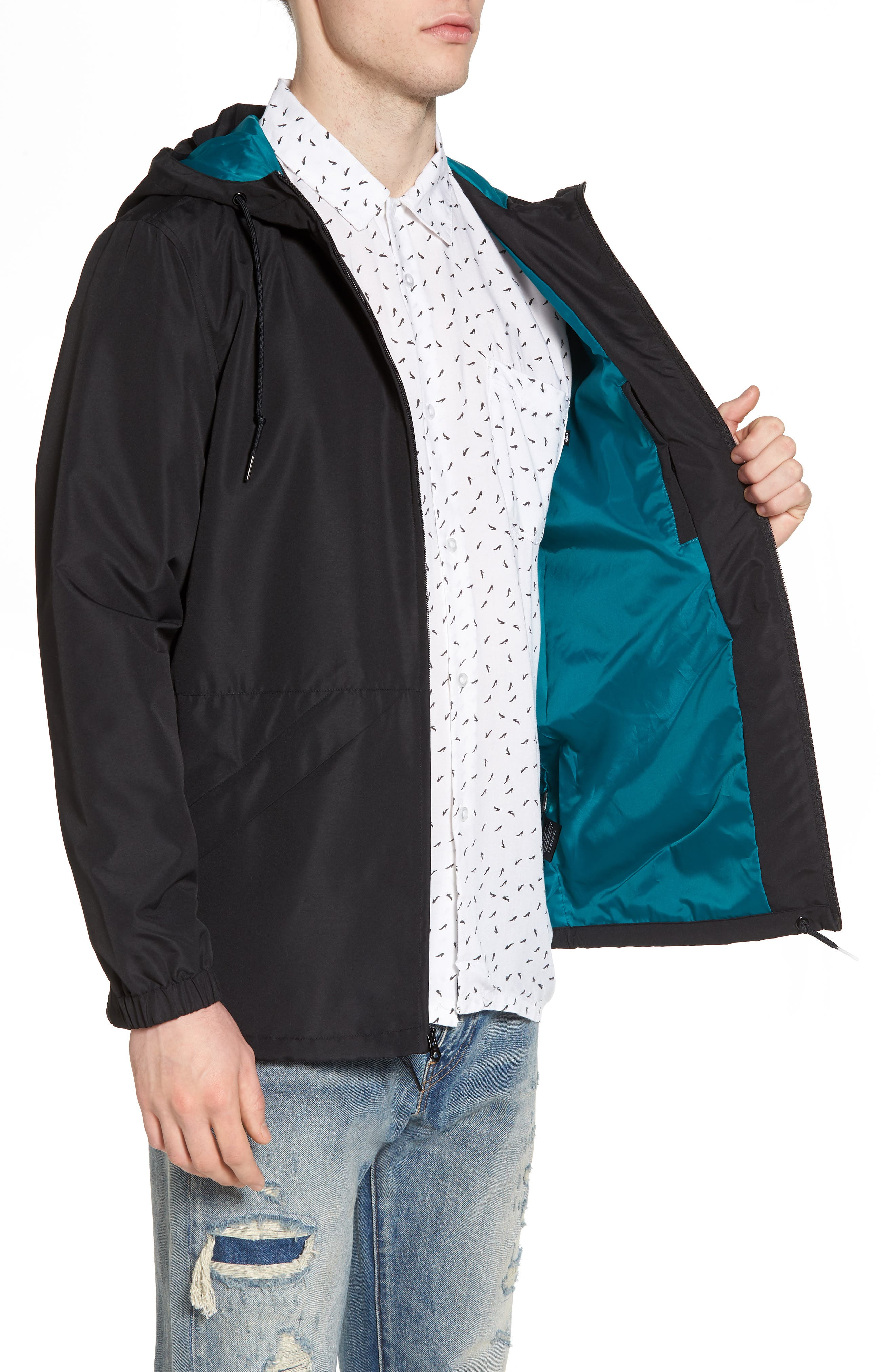 Ambush Hooded Jacket,                             Alternate thumbnail 3, color,                             Black