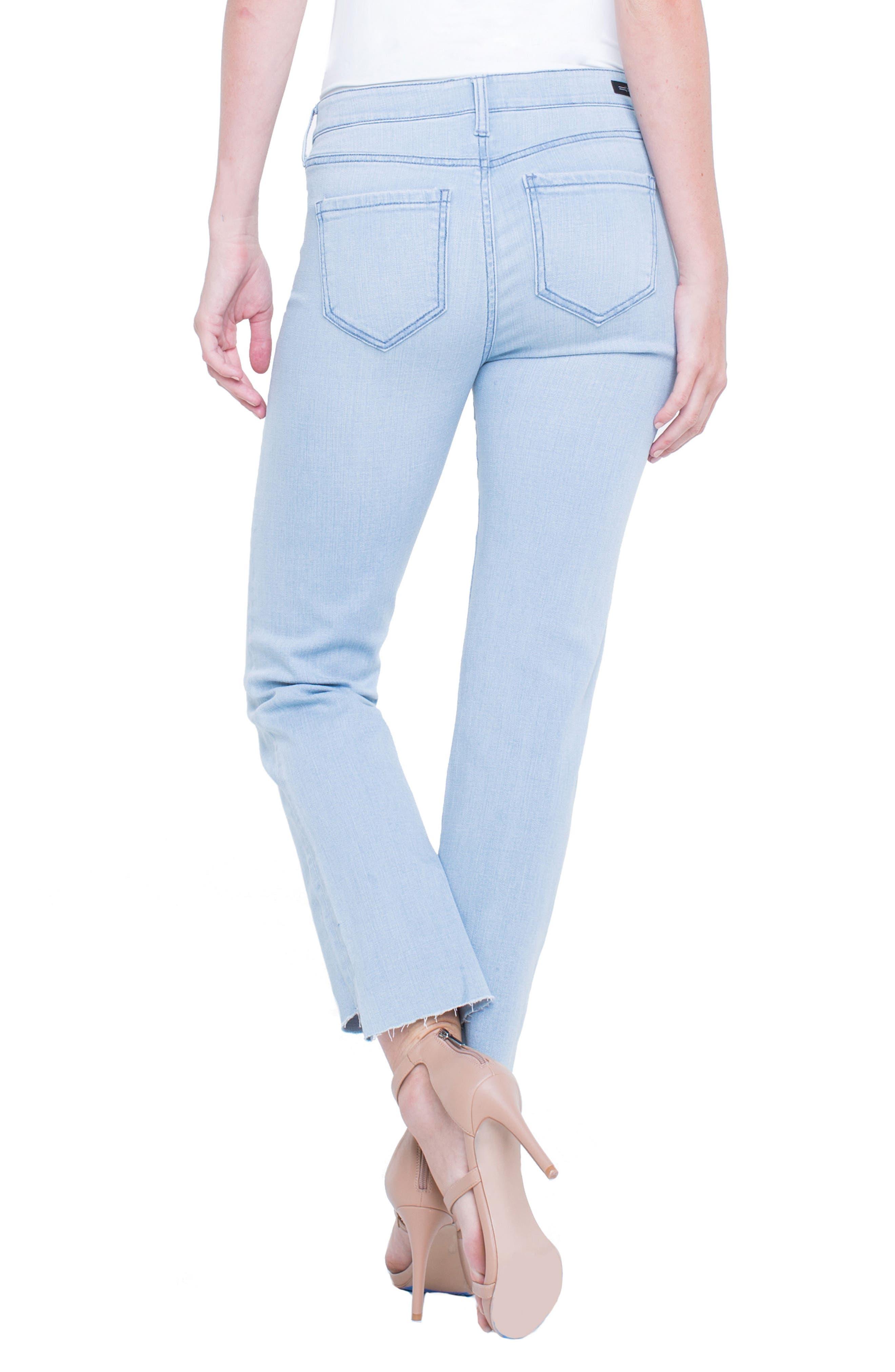 Jayden Crop Straight Leg Jeans,                             Alternate thumbnail 3, color,                             Brenton