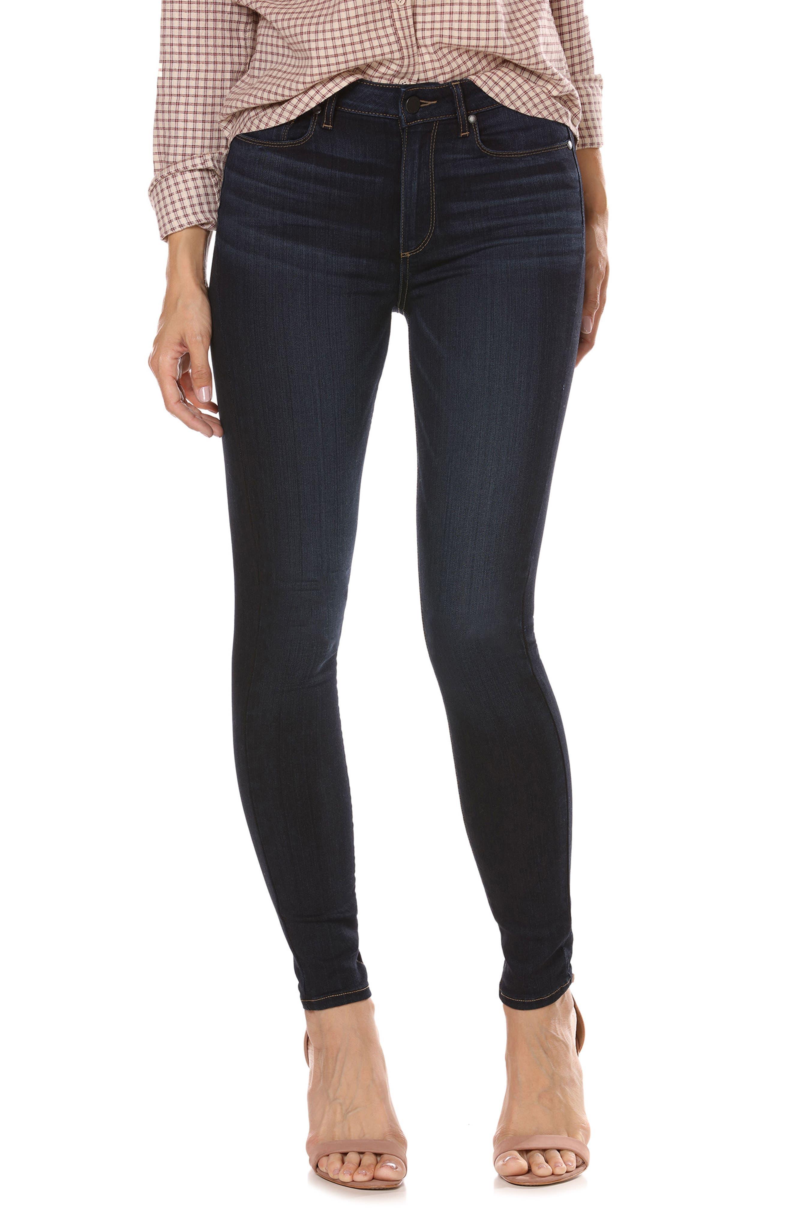 Transcend - Hoxton High Waist Ankle Skinny Jeans,                             Main thumbnail 1, color,                             Koda