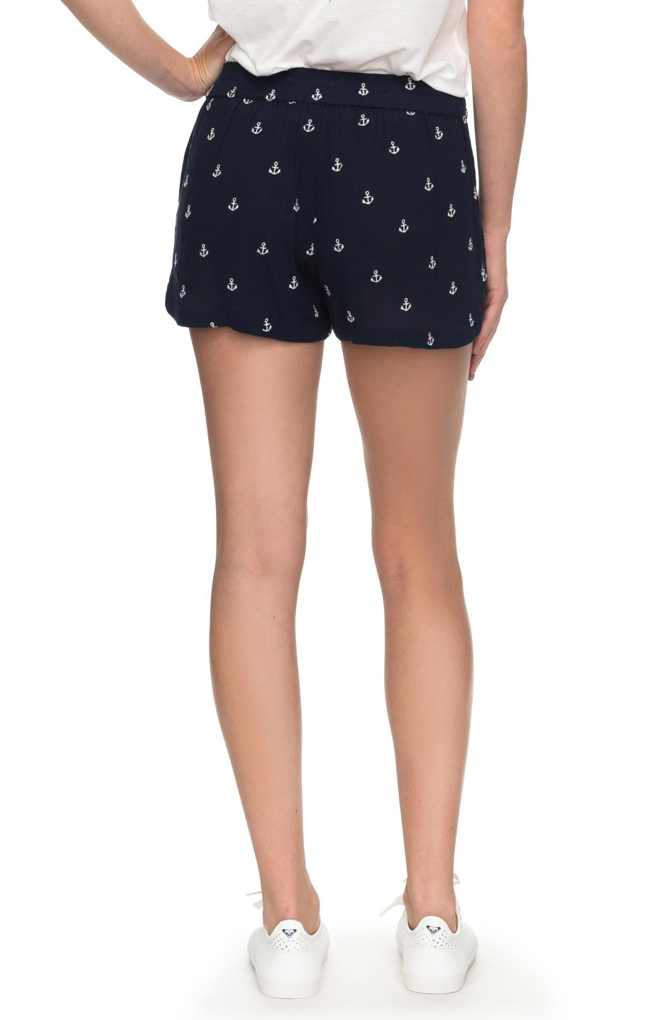 Miami Beachy Shorts,                             Alternate thumbnail 3, color,                             Dress Blues Emby Anchor