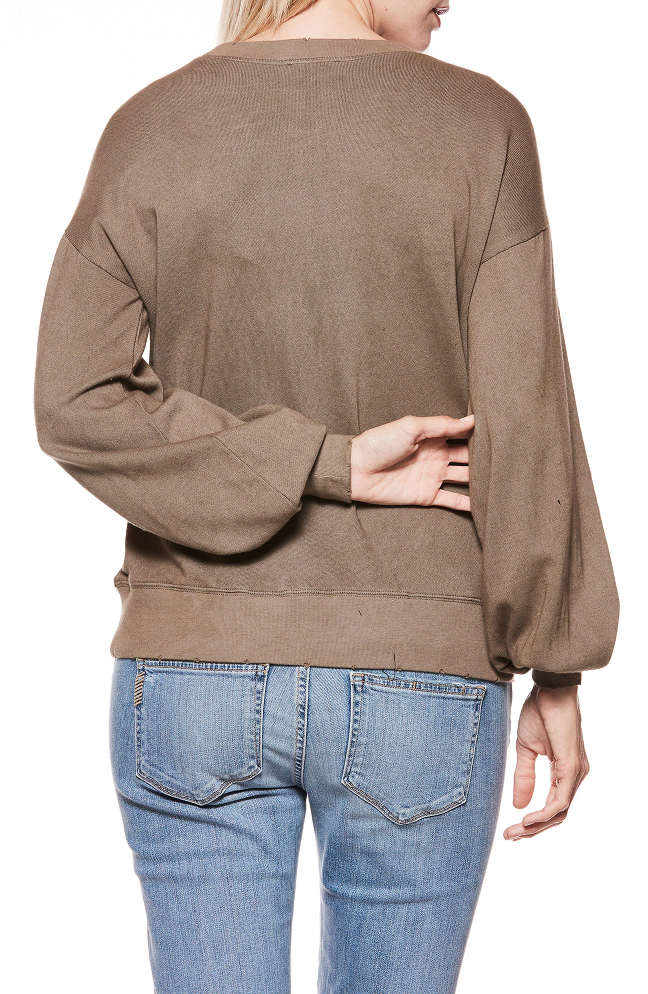 Cortlynn Sweatshirt,                             Alternate thumbnail 2, color,                             Tanned Olive