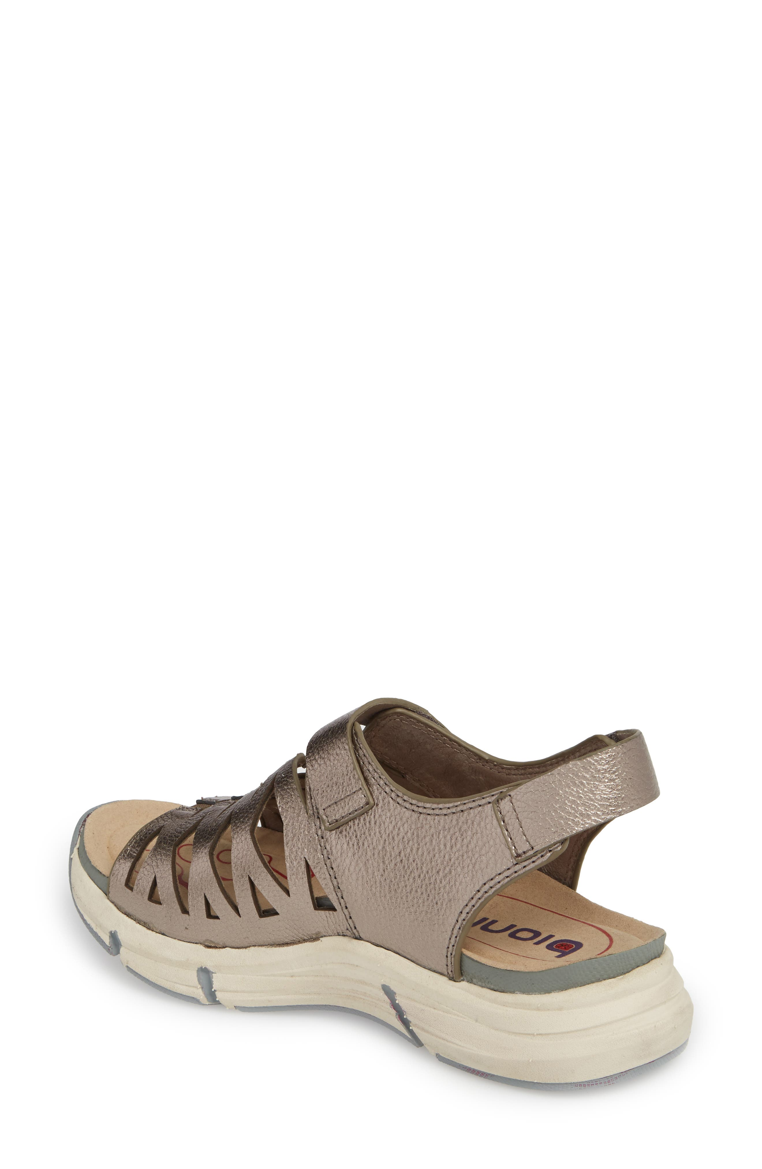 Ossipee Sandal,                             Alternate thumbnail 2, color,                             Anthracite Leather