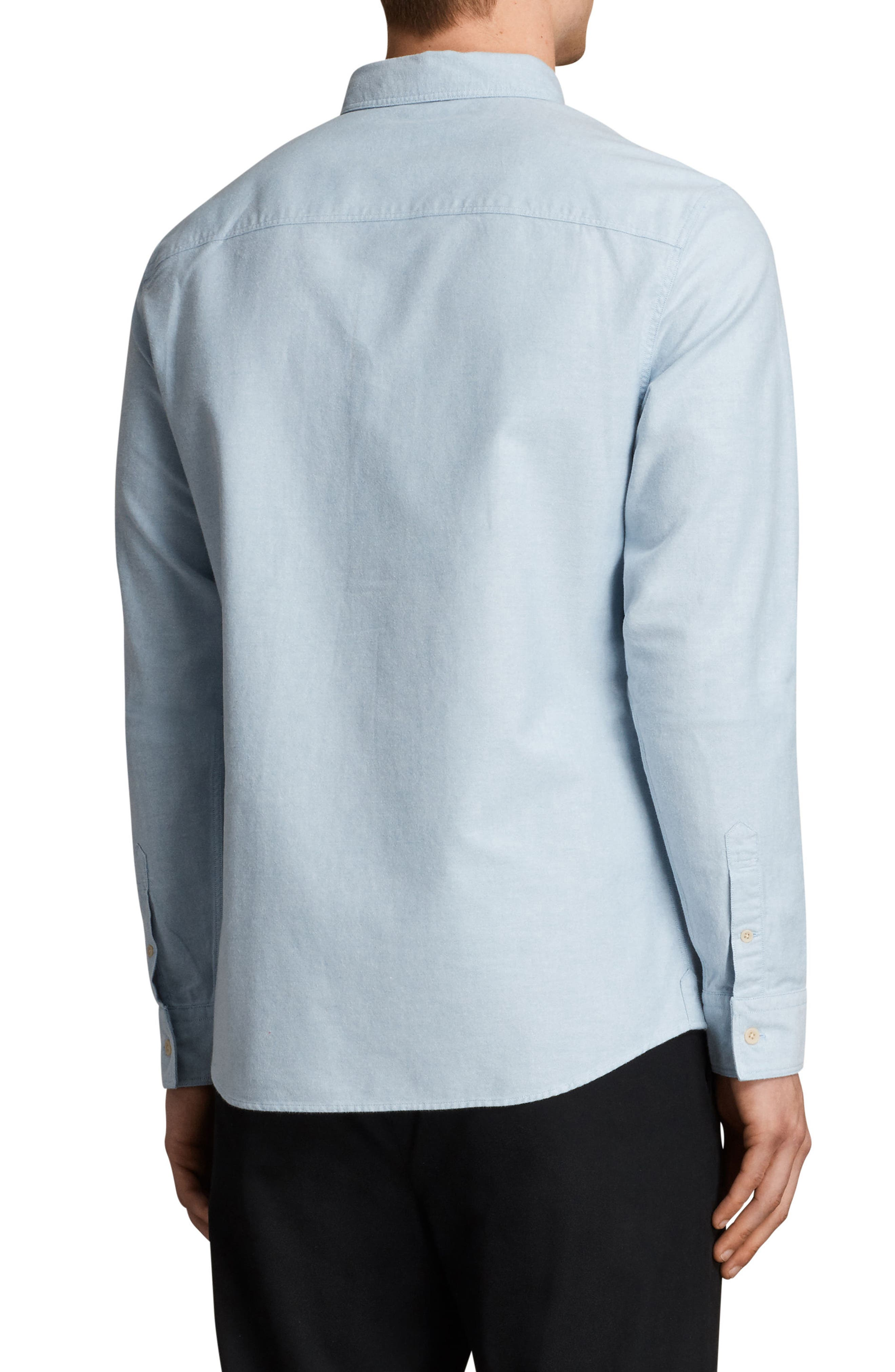 Huntington Regular Fit Sport Shirt,                             Alternate thumbnail 2, color,                             Light Blue