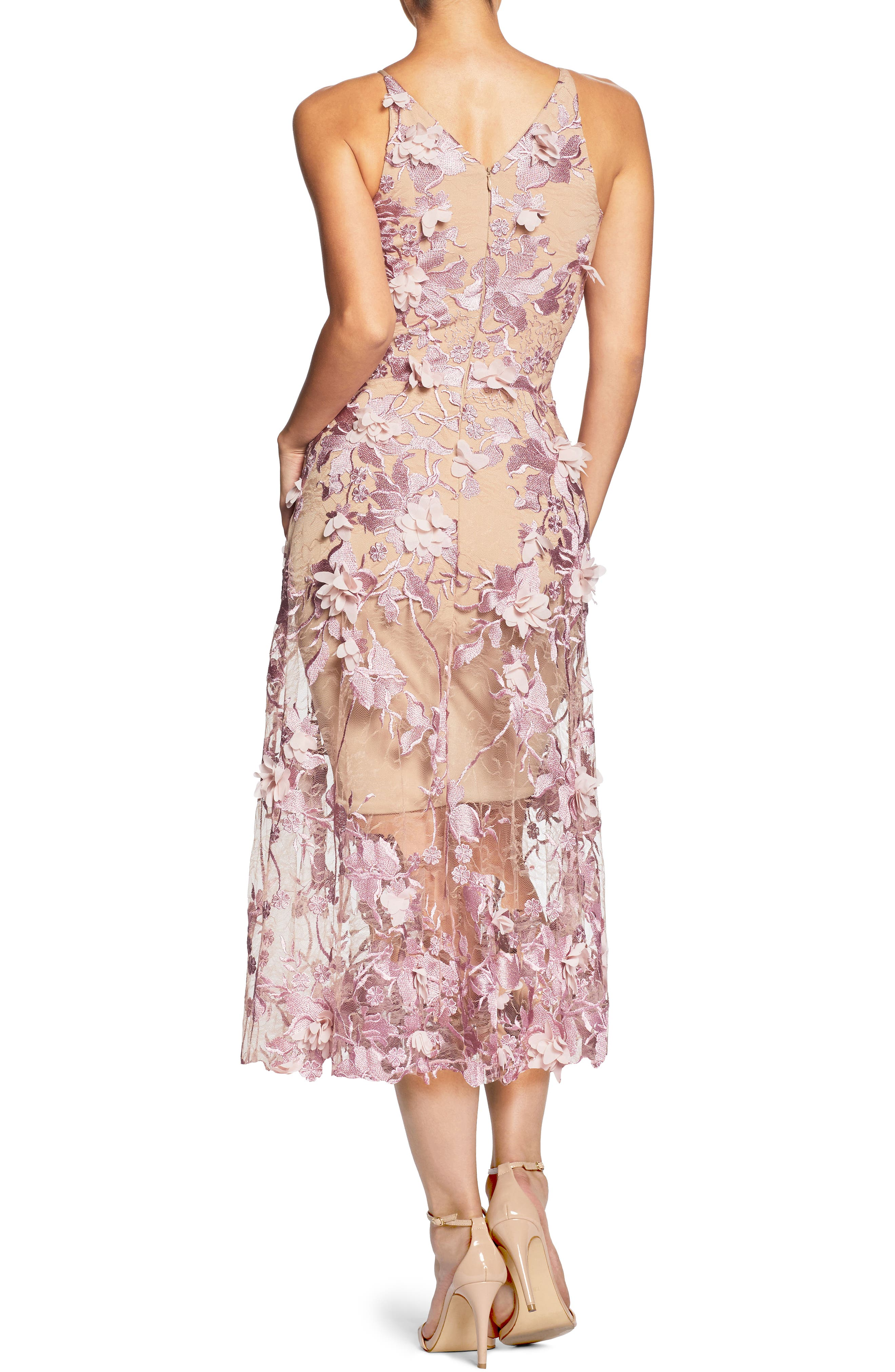 Alternate Image 2  - Dress the Population Audrey Embroidered Fit & Flare Dress