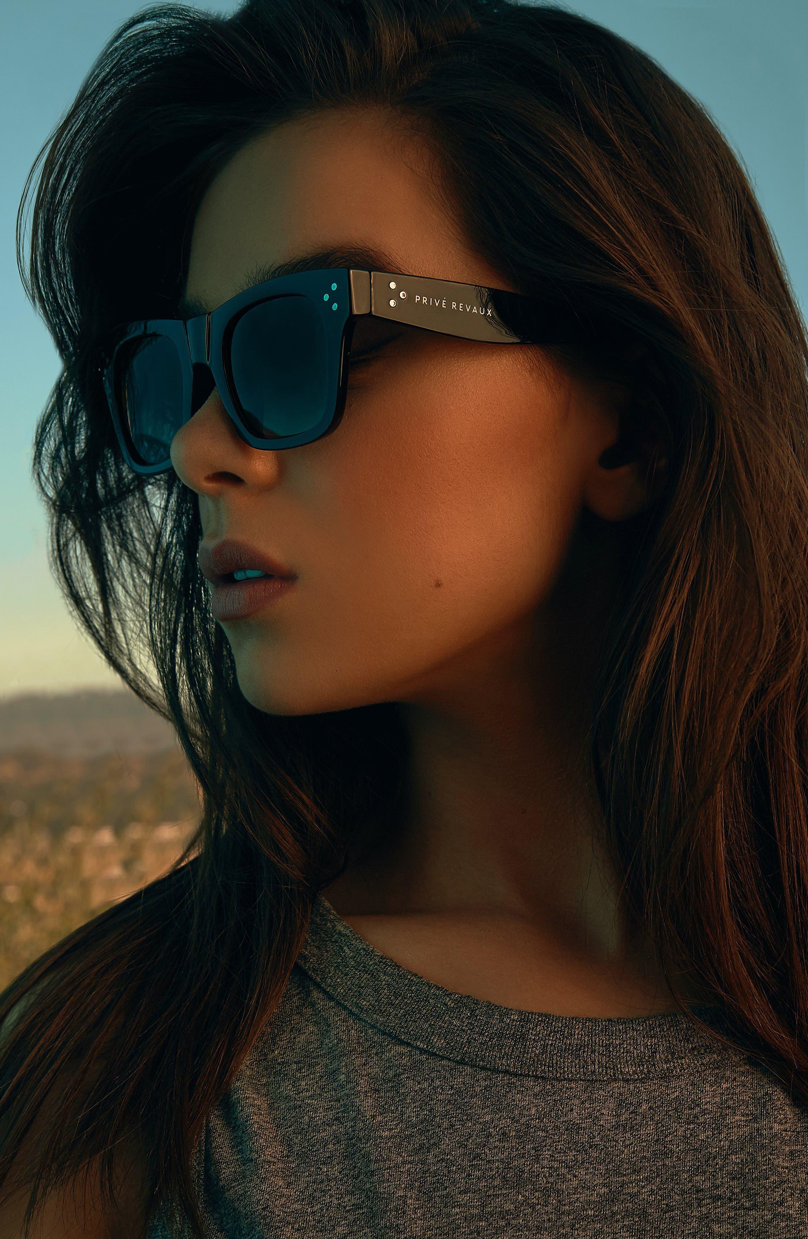 Privé Revaux The Classic 51mm Polarized Square Sunglasses,                             Alternate thumbnail 2, color,                             Black