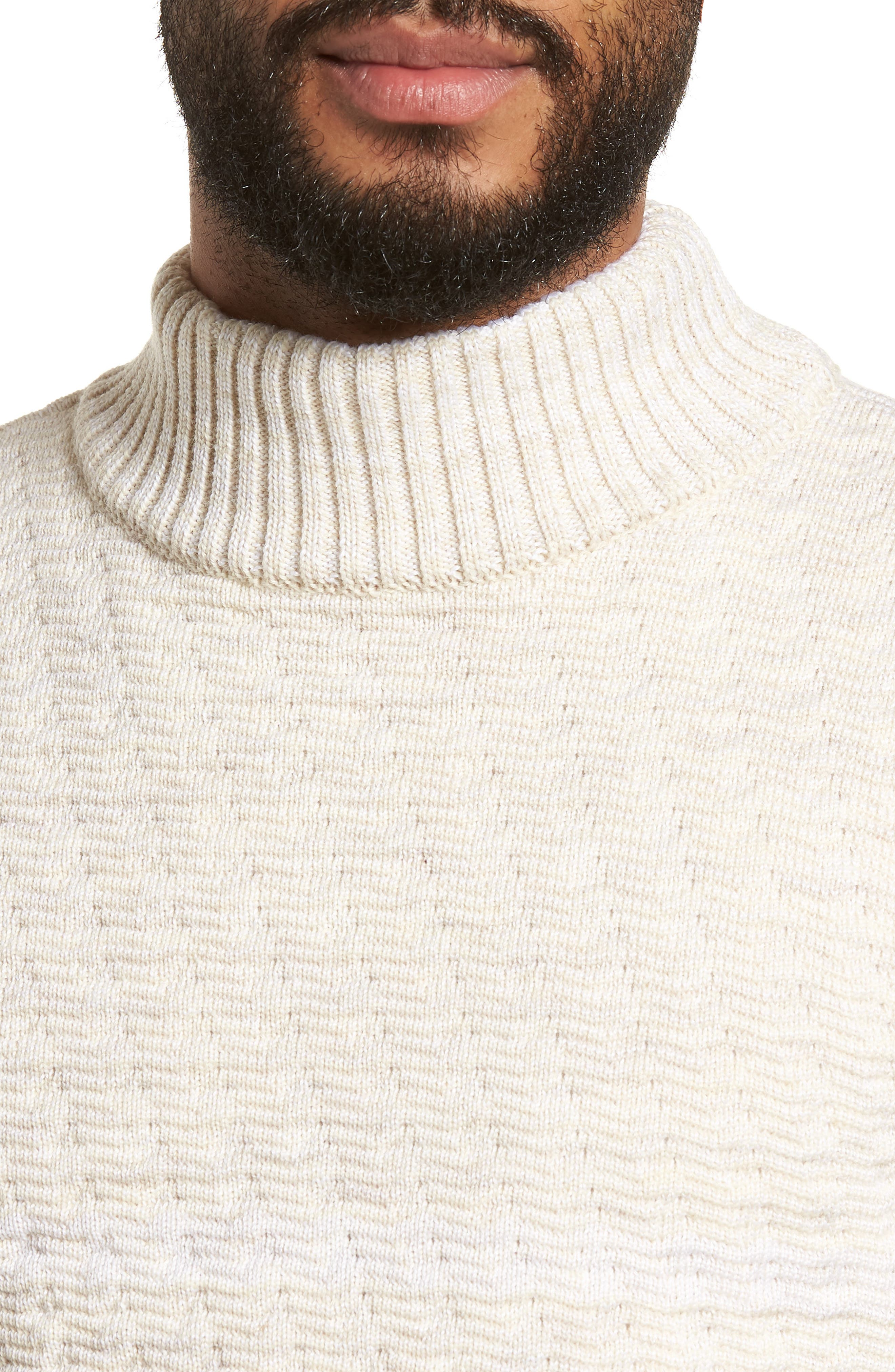 Evident Wool Turtleneck Sweater,                             Alternate thumbnail 4, color,                             Raw