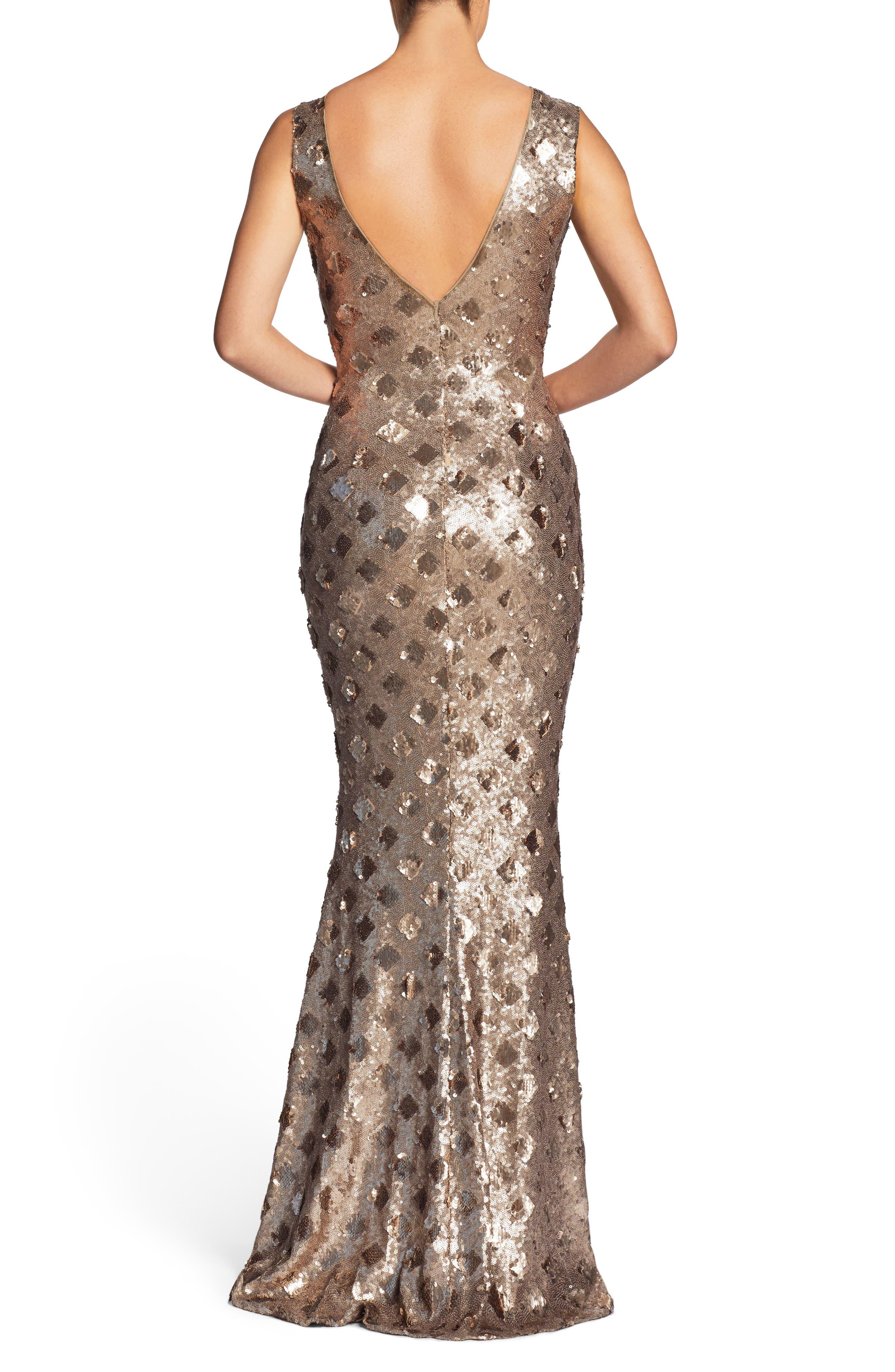 Alternate Image 2  - Dress the Population Yvette Sequin Trumpet Gown
