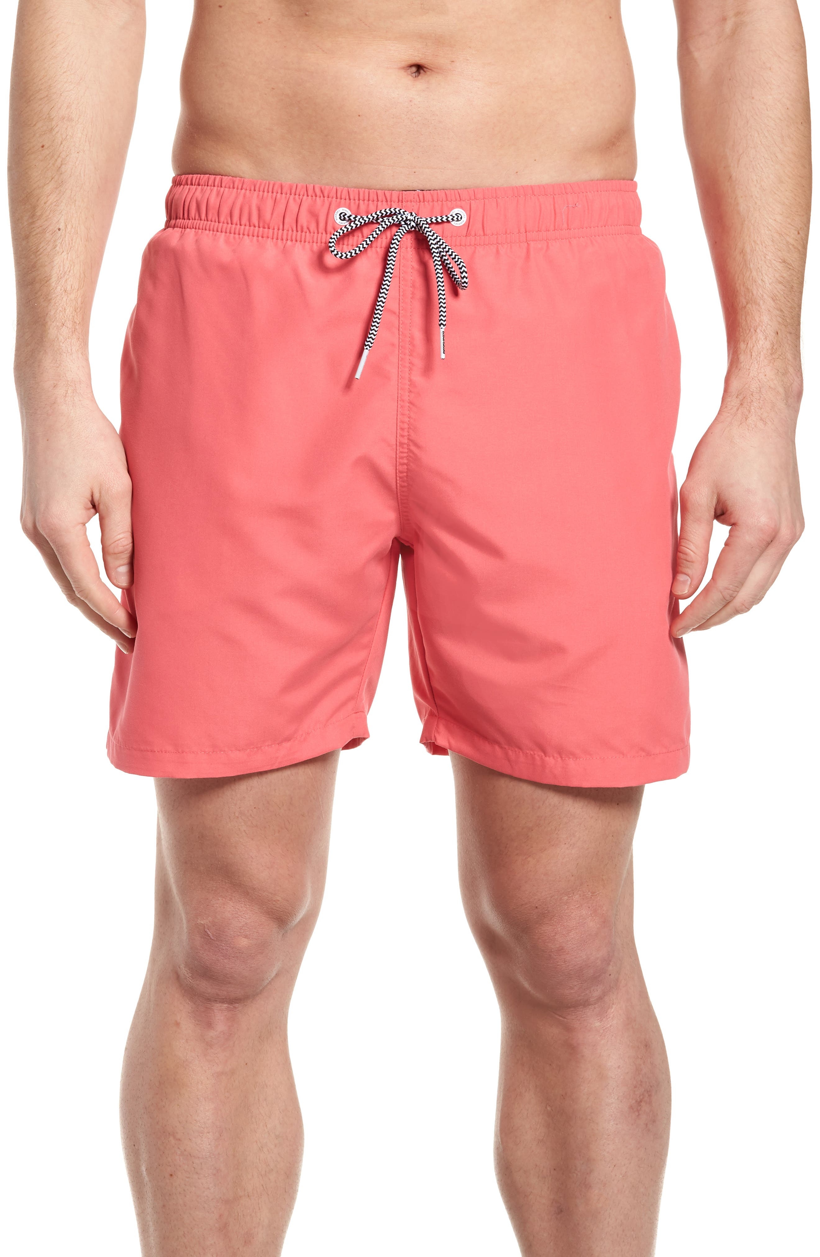 Swim Trunks,                             Main thumbnail 1, color,                             Red