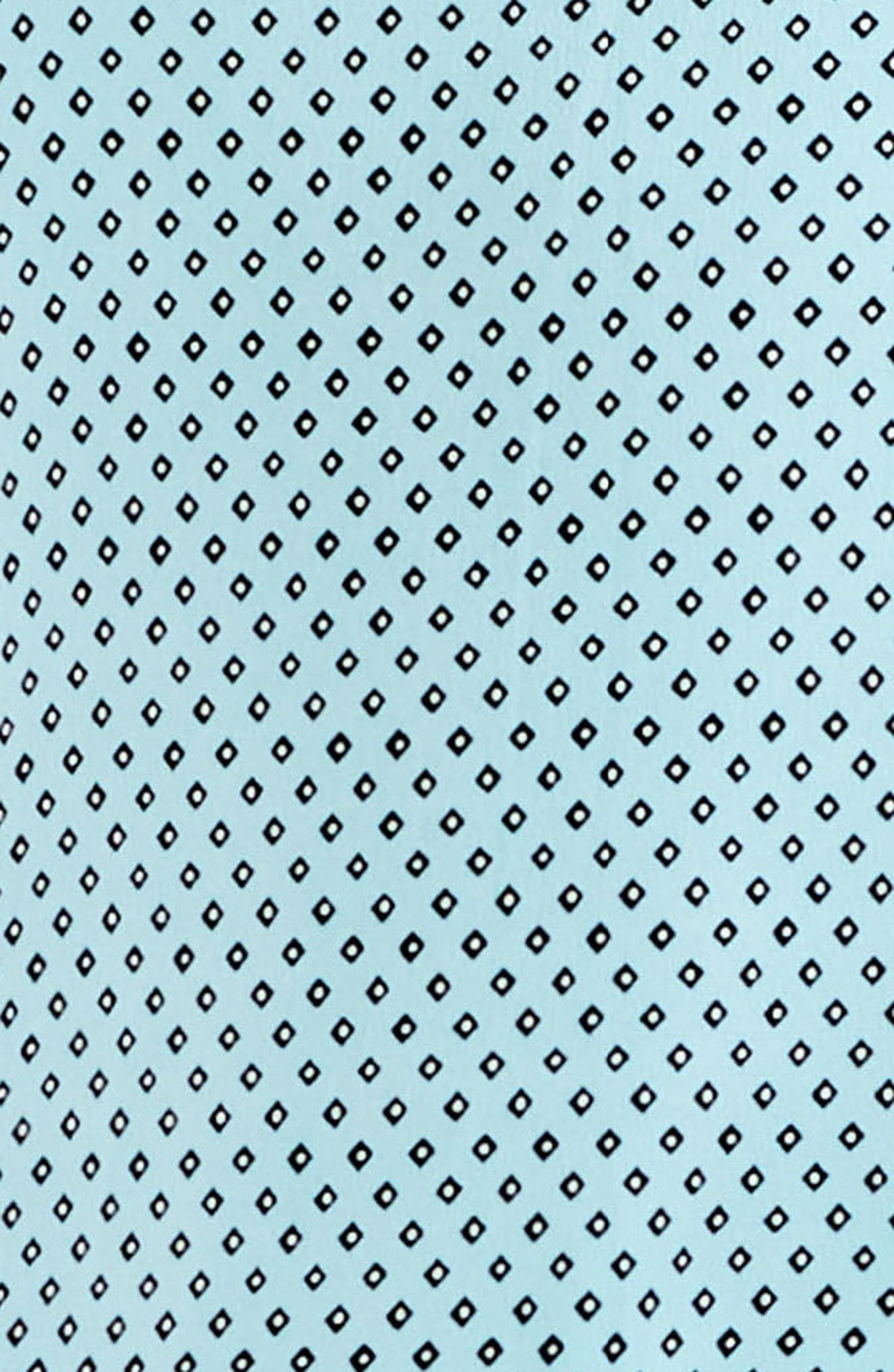 Diamond Geo Panel Blouse,                             Alternate thumbnail 3, color,                             Aqua Glow