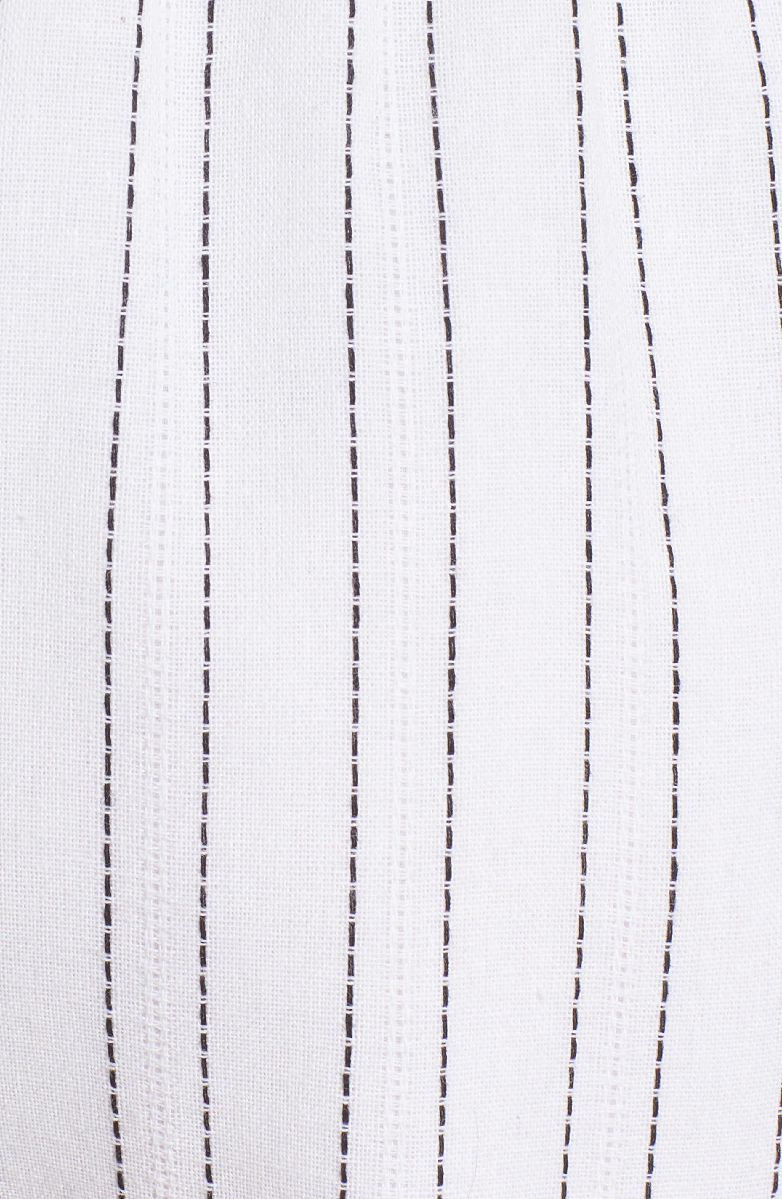 Tie Front Shorts,                             Alternate thumbnail 6, color,                             White/ Black