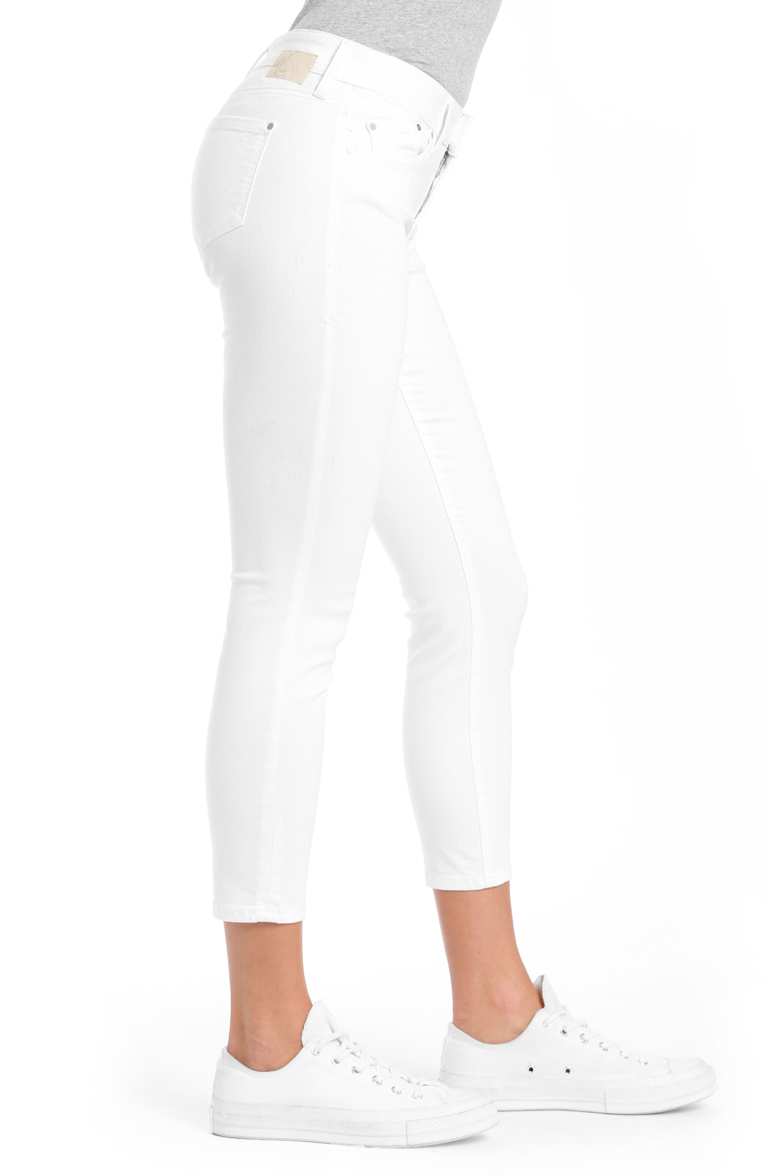 Adriana Ankle Jeans,                             Alternate thumbnail 3, color,                             White Tribeca